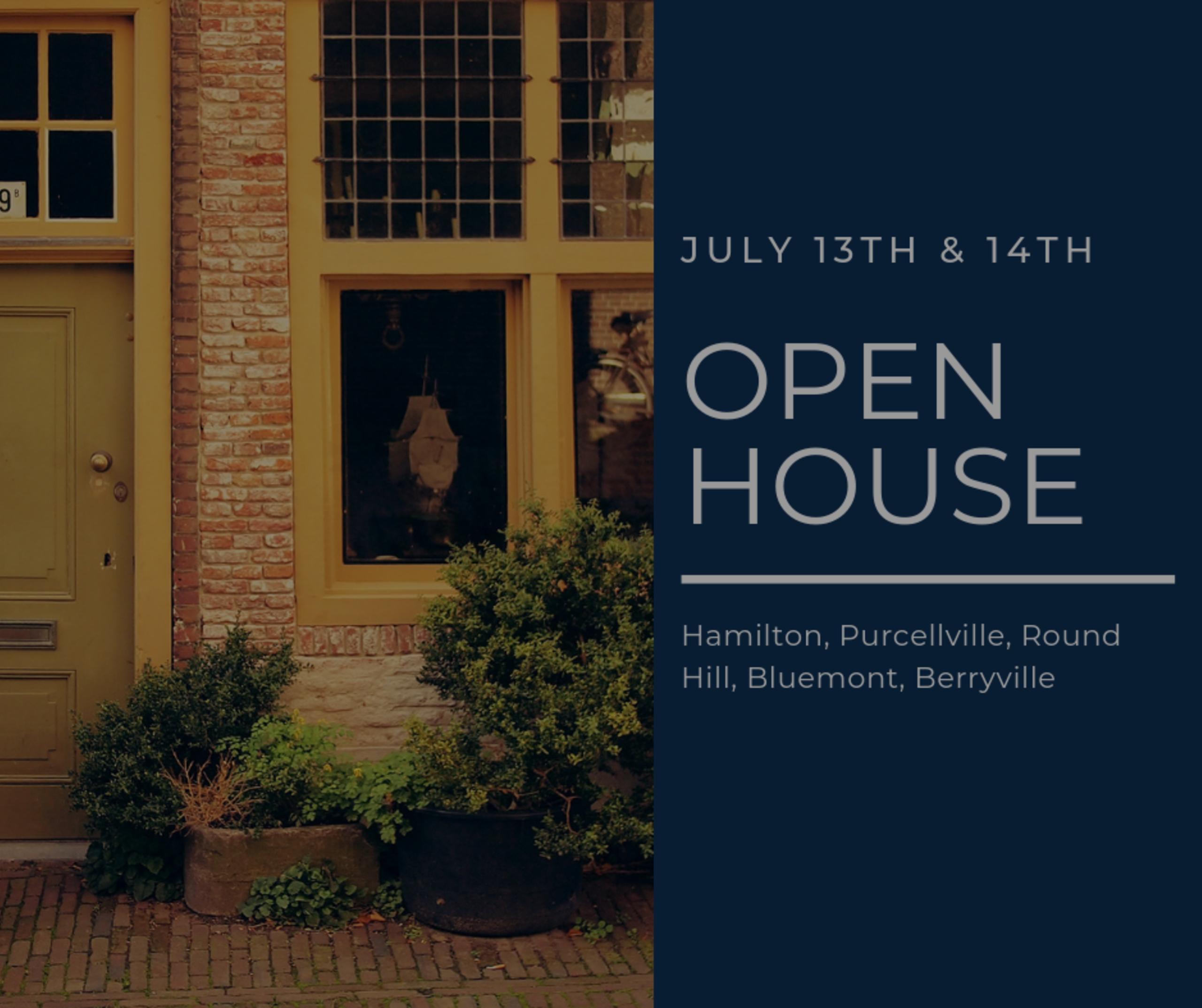 Open House List 7/13/19 – 7/14/19