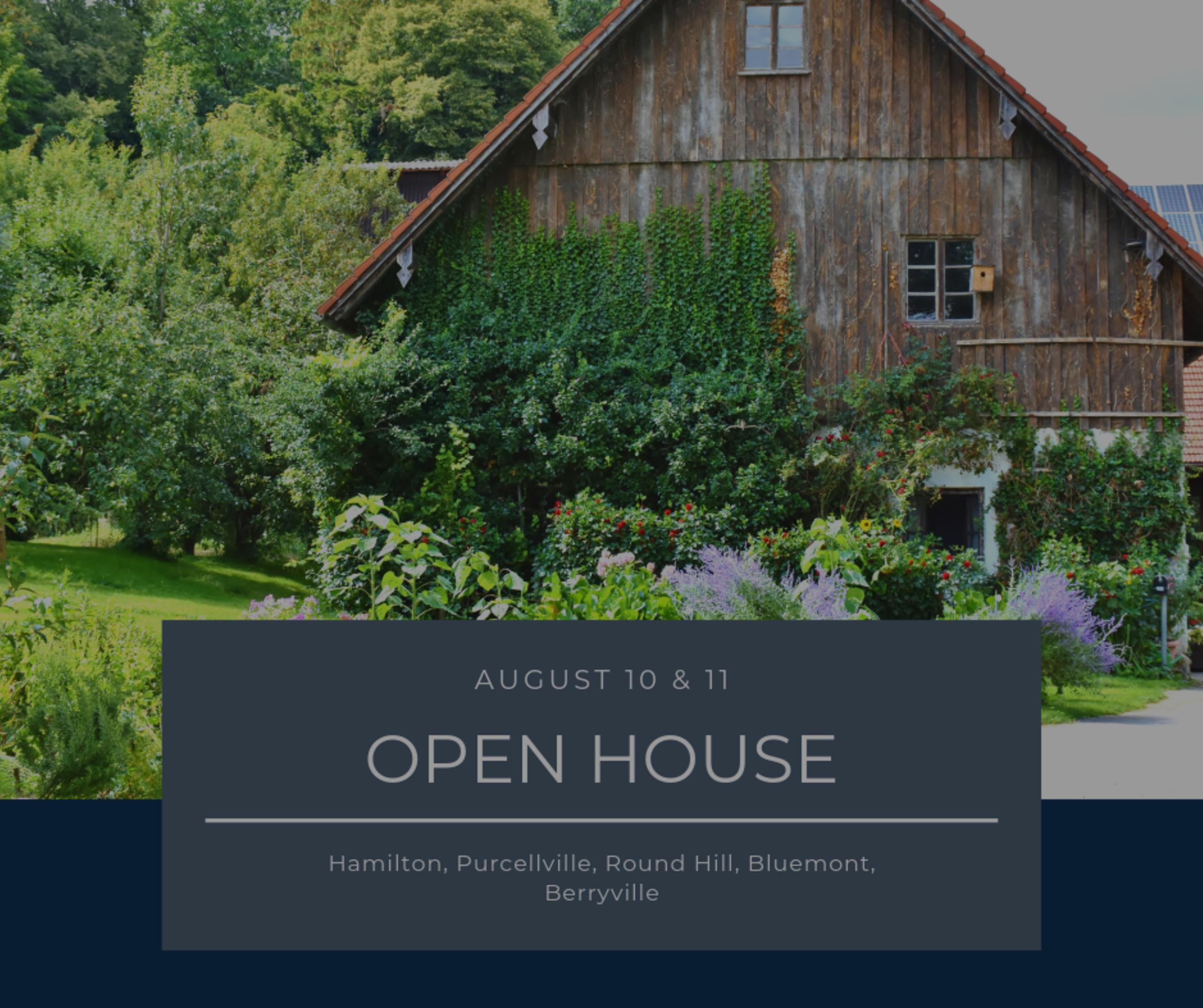 Open House List 8/10/19 – 8/11/19