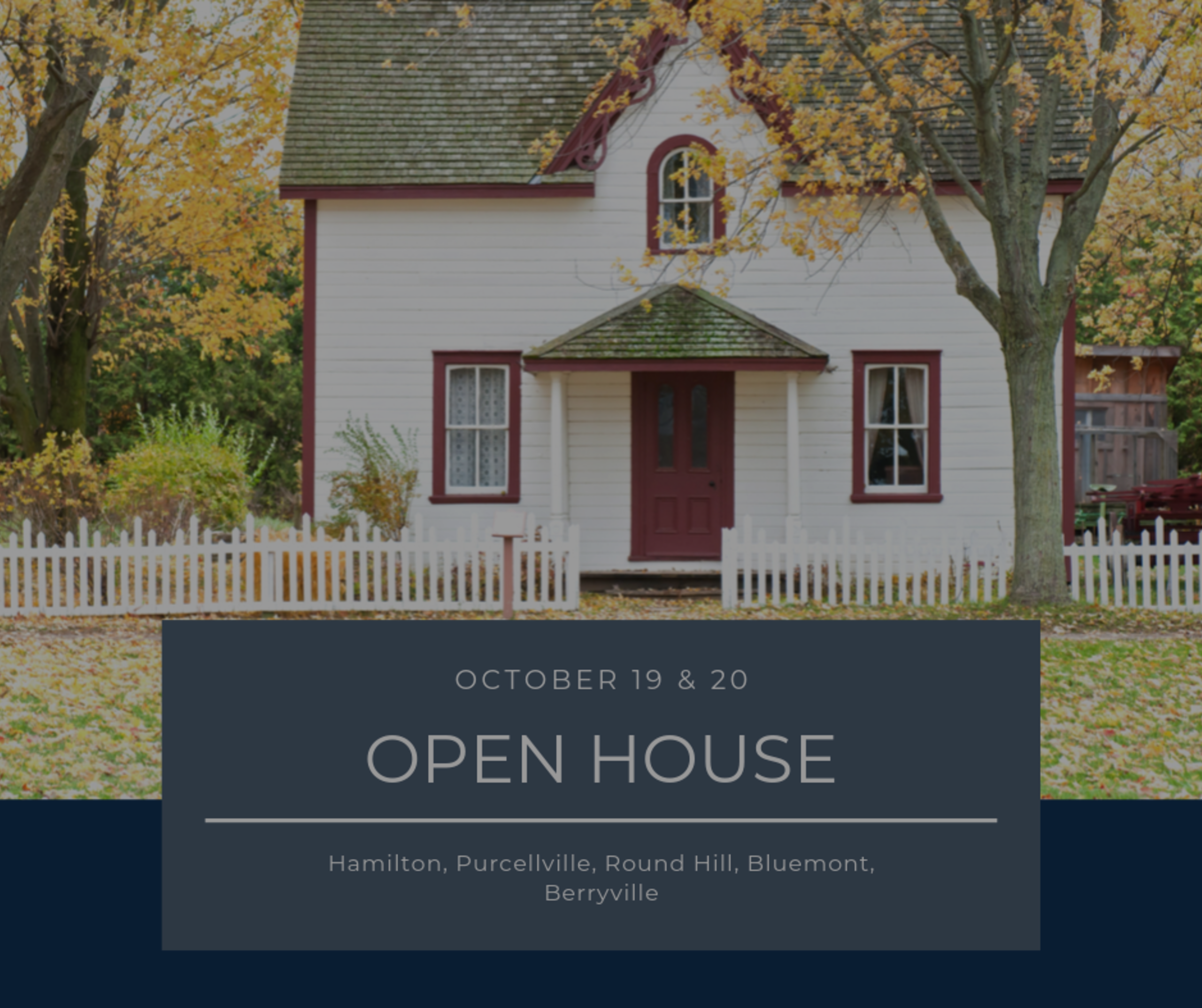 Open House List 10/19/19 – 10/20/19
