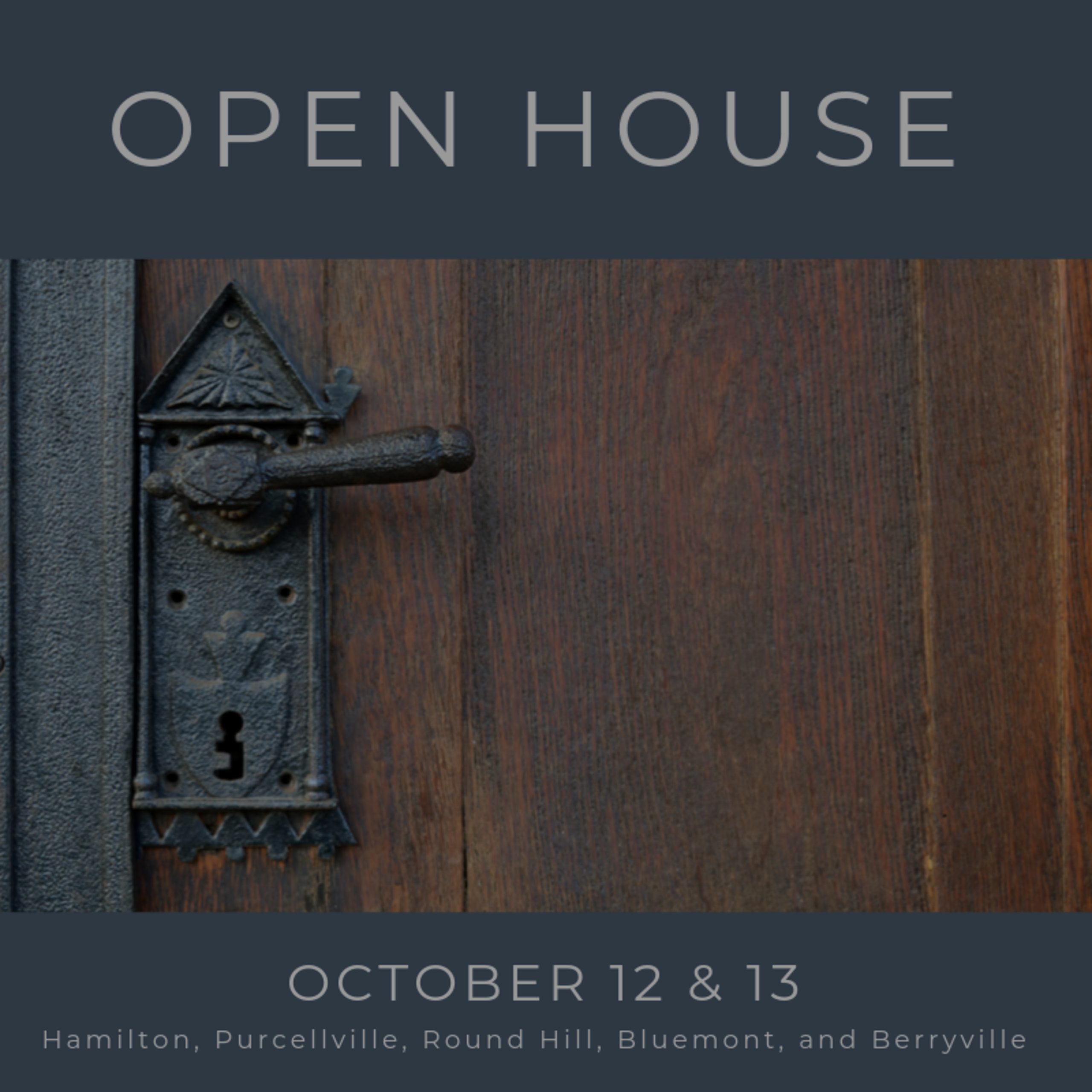 Open House List 10/12/19 – 10/13/19