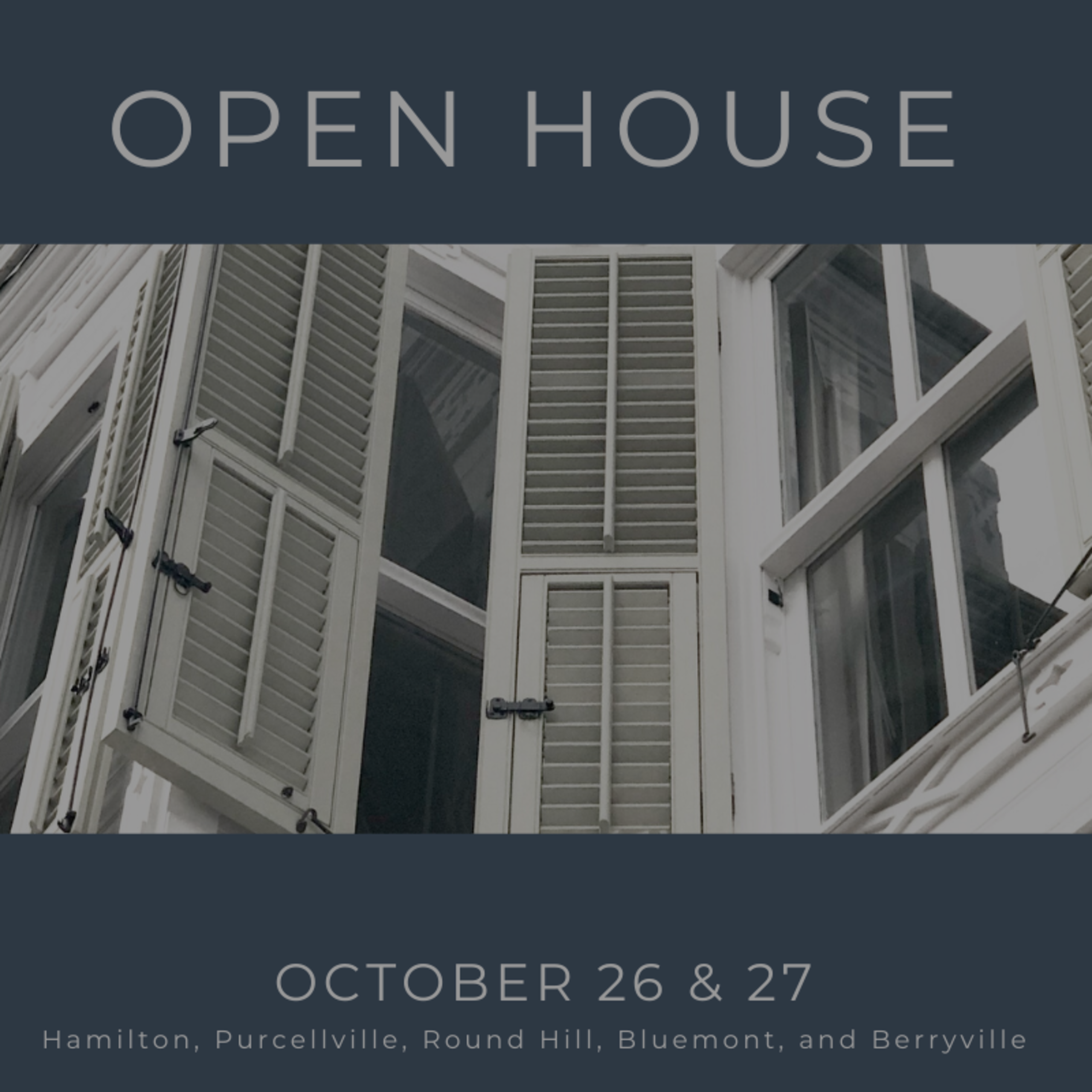 Open House List 10/26/19 – 10/27/19