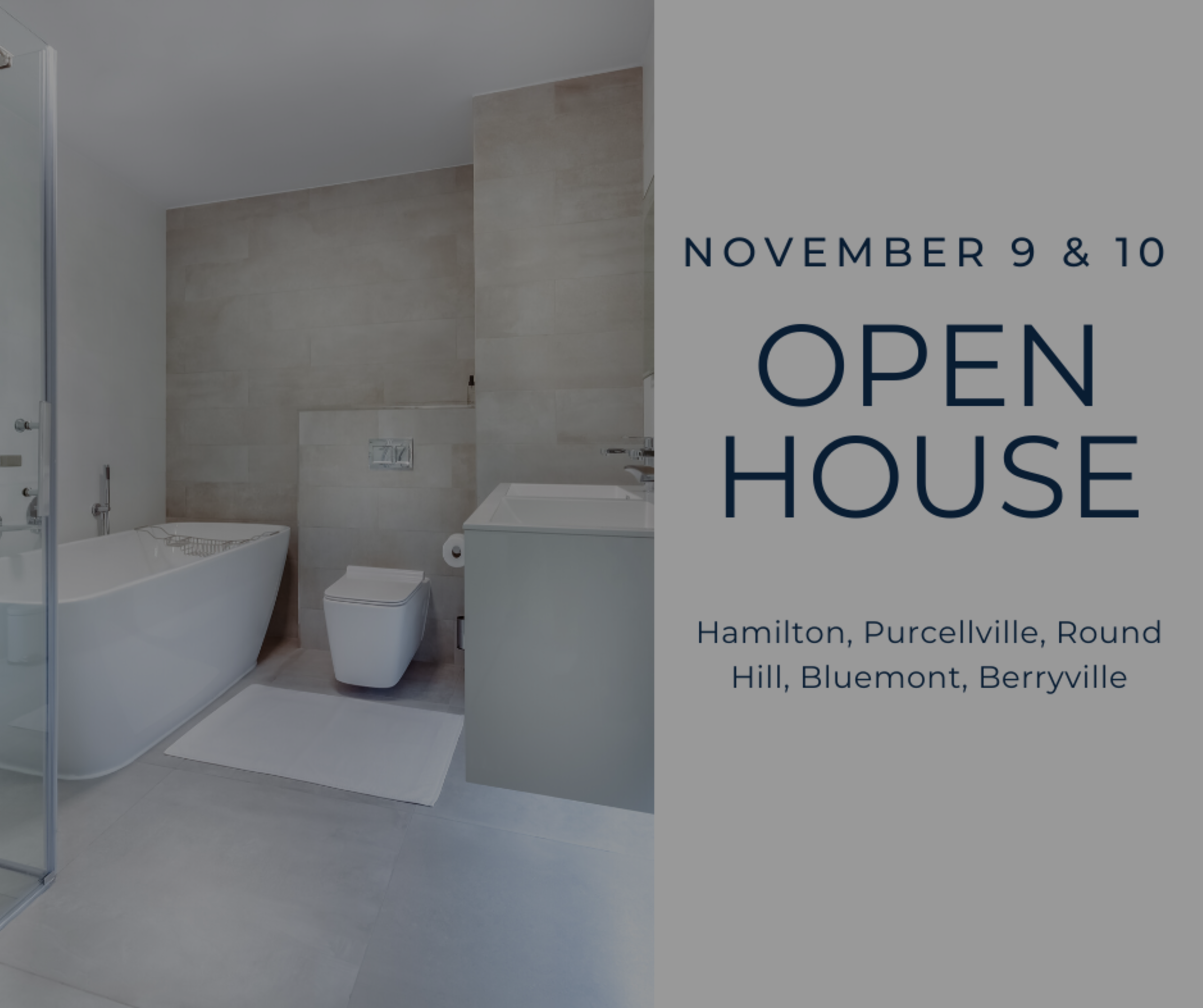 Open House List 11/9/19 – 11/10/19