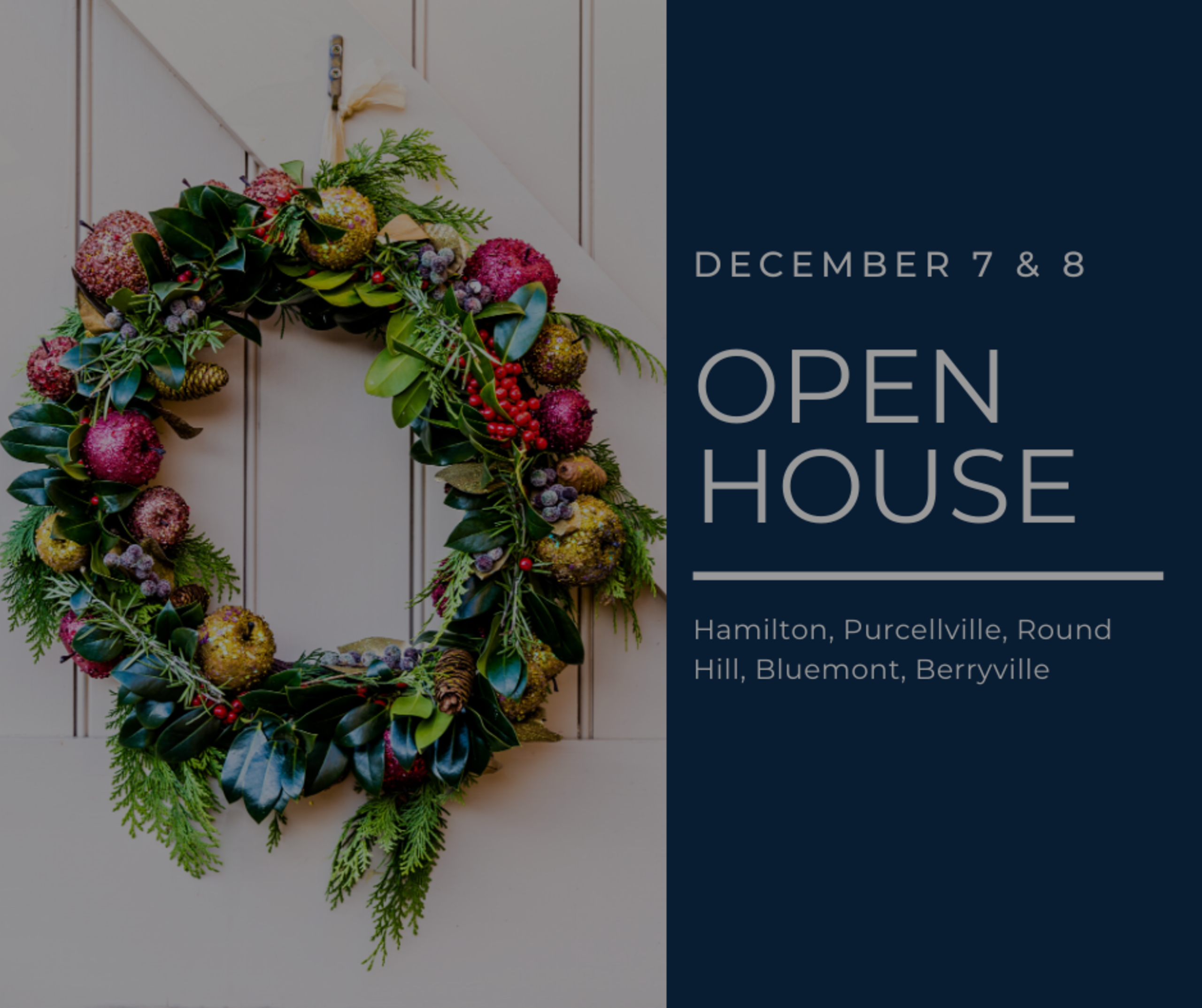 Open House List 12/7/19 – 12/8/19