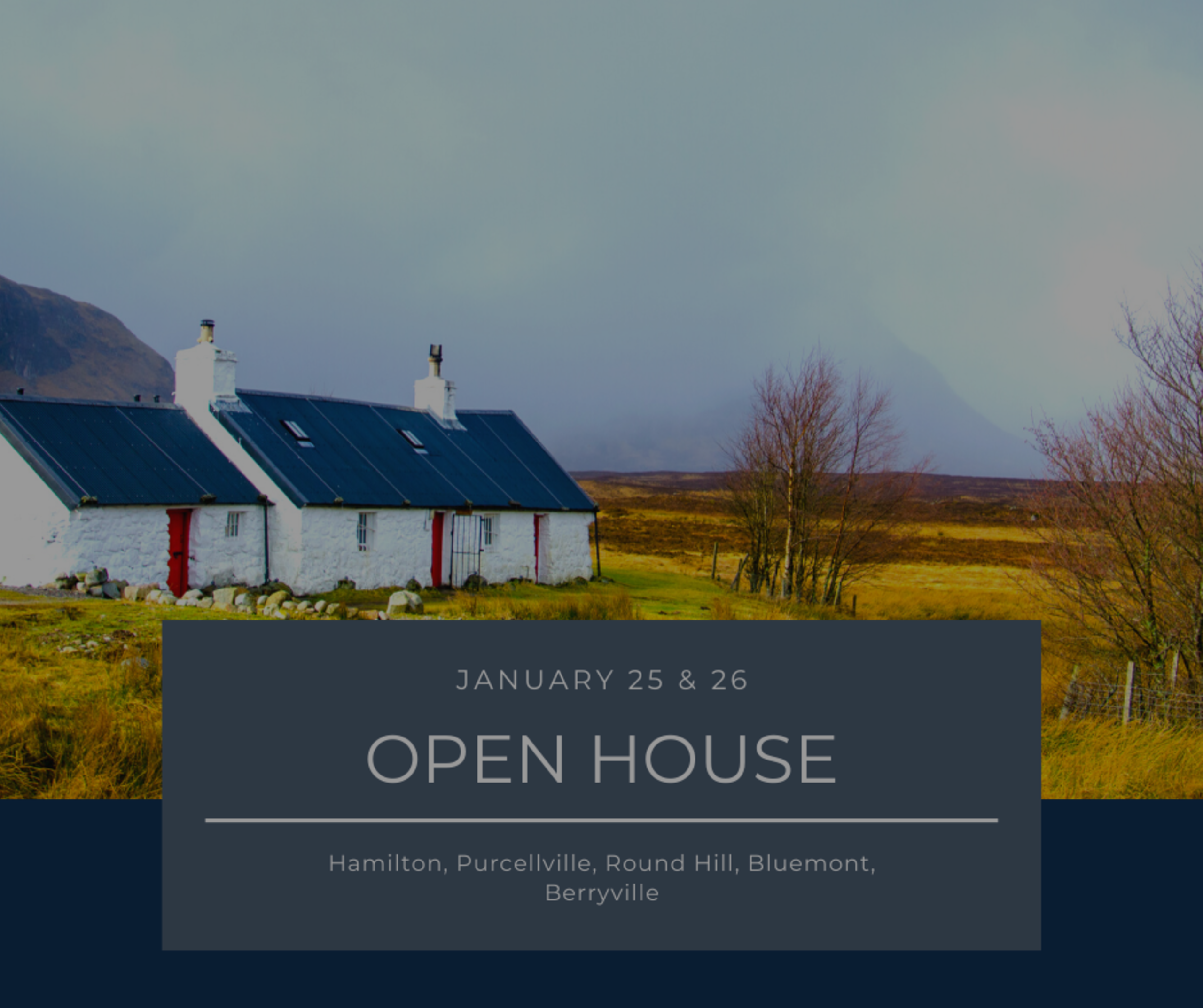 Open House List 1/25/20 – 1/26/20