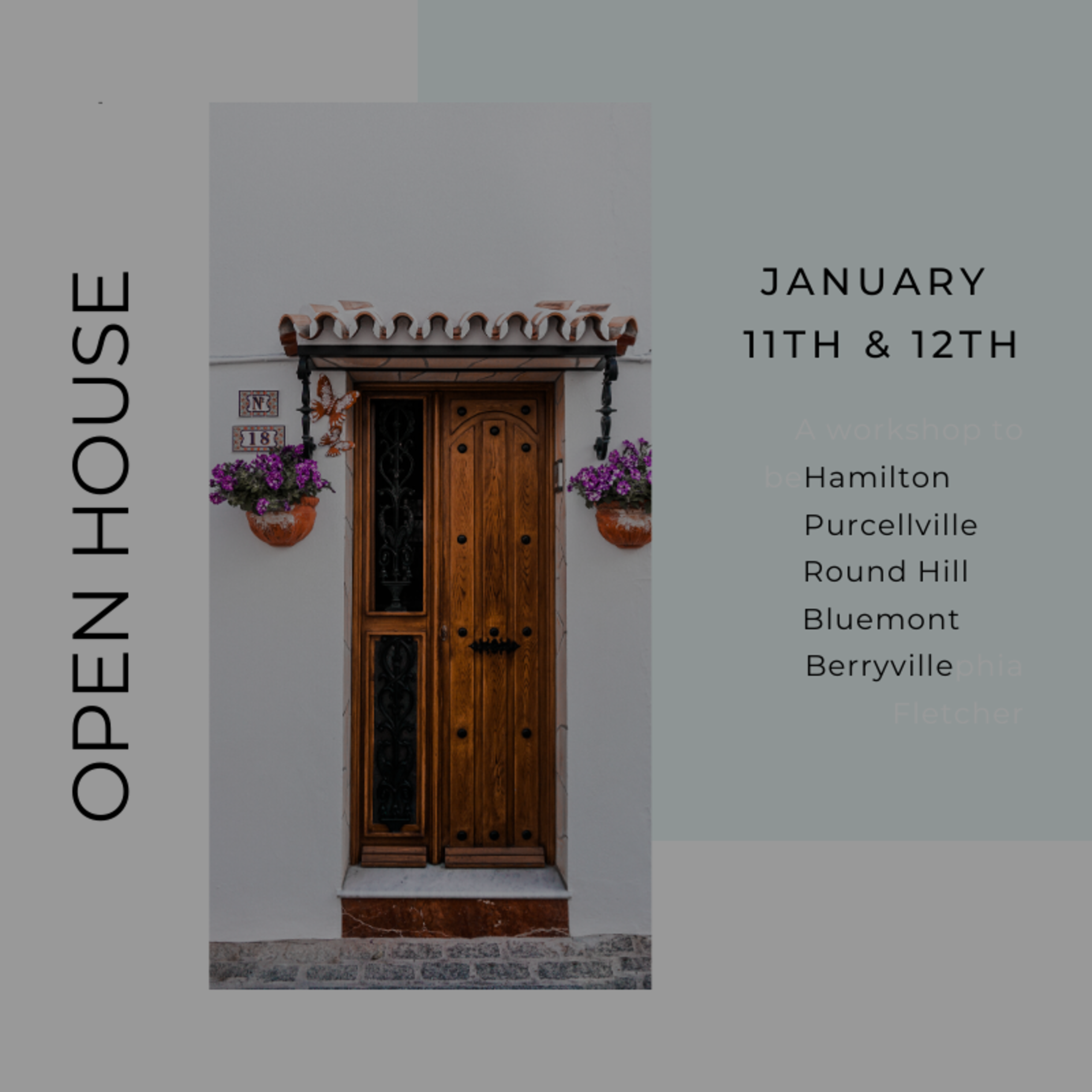 Open House List 1/10/2020 – 1/11/20