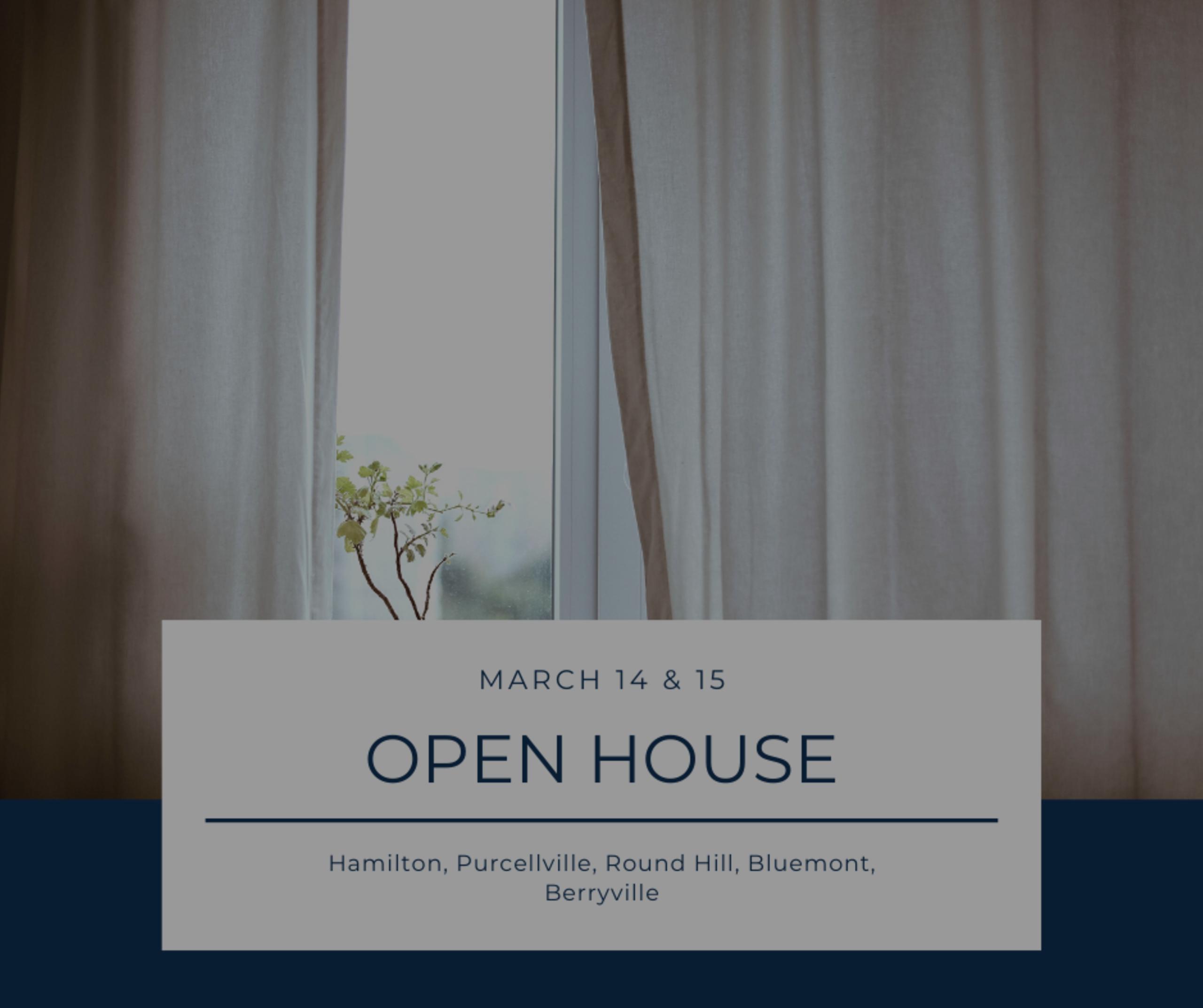 Open House List 3/14/20 – 3/15/20