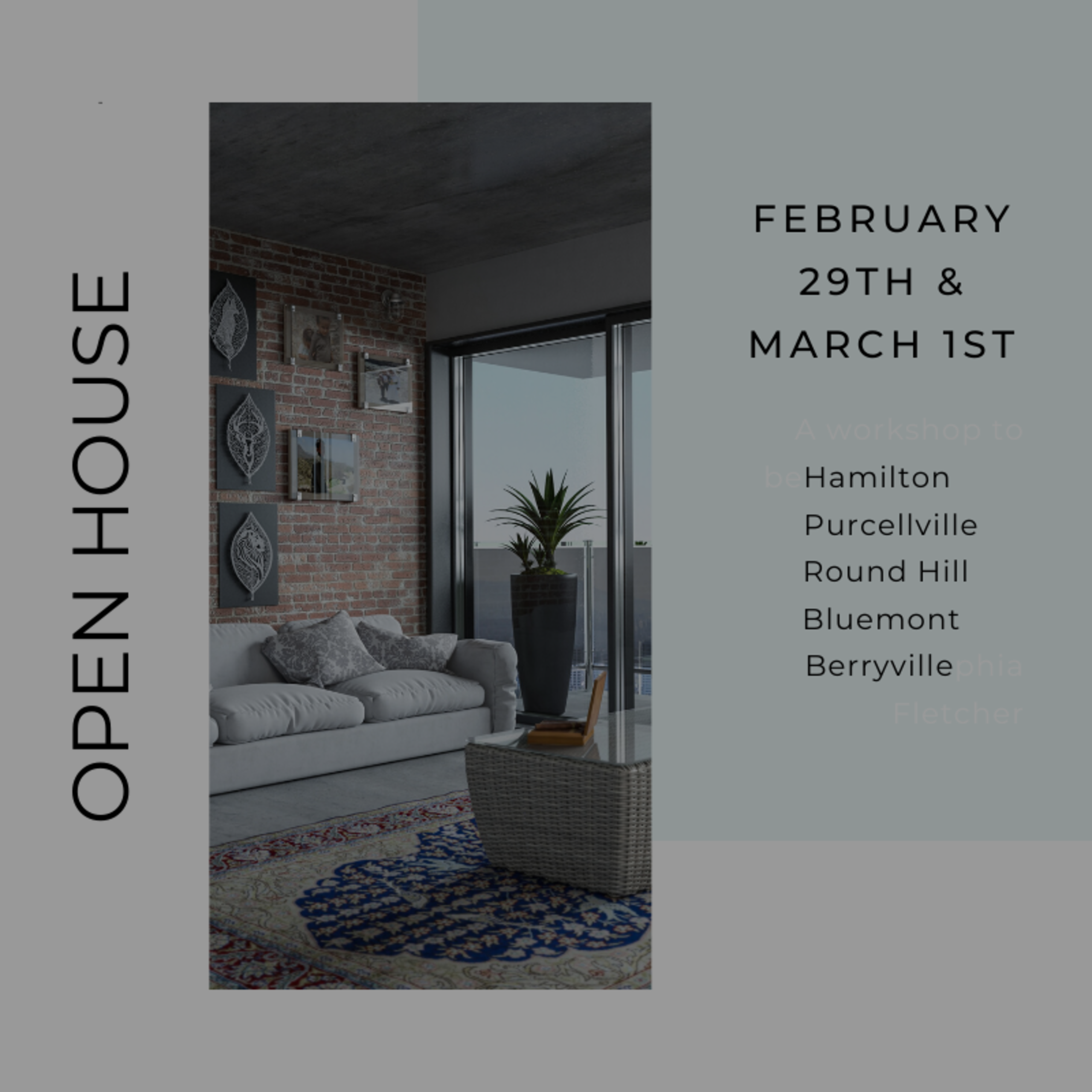 Open House List 2/29/20 – 3/1/20