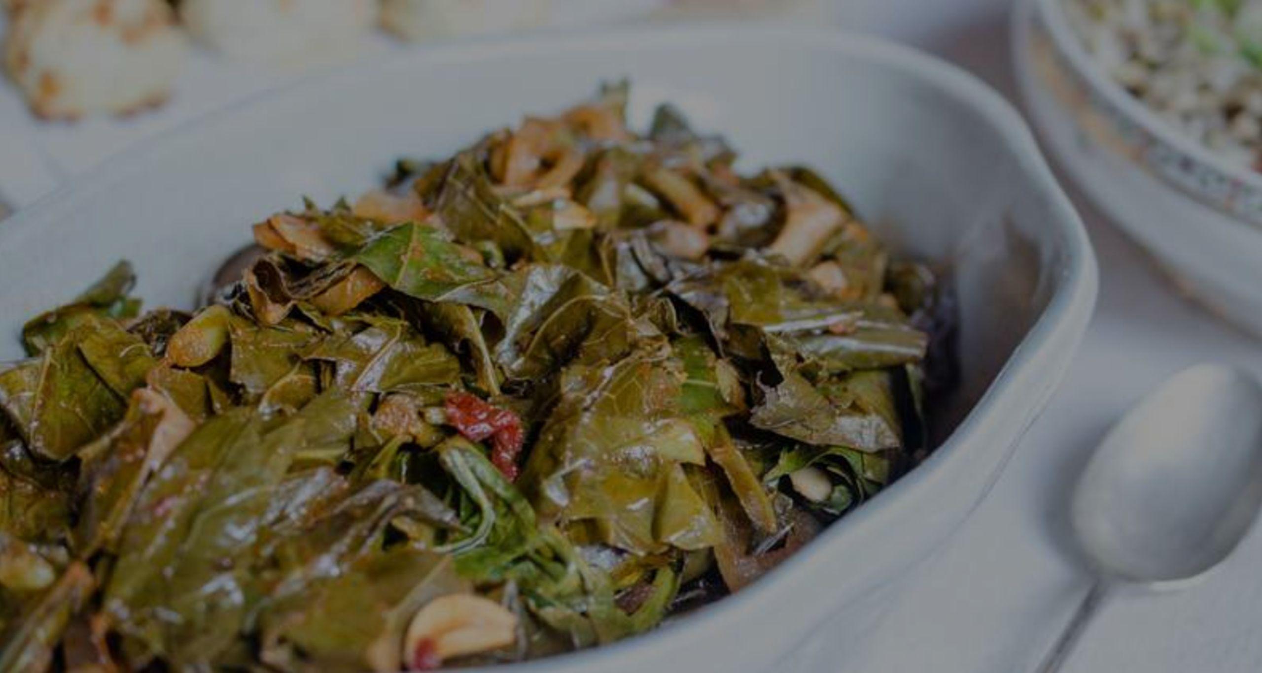 Recipe – Virginia Willis' Smoky Vegan Collard Greens