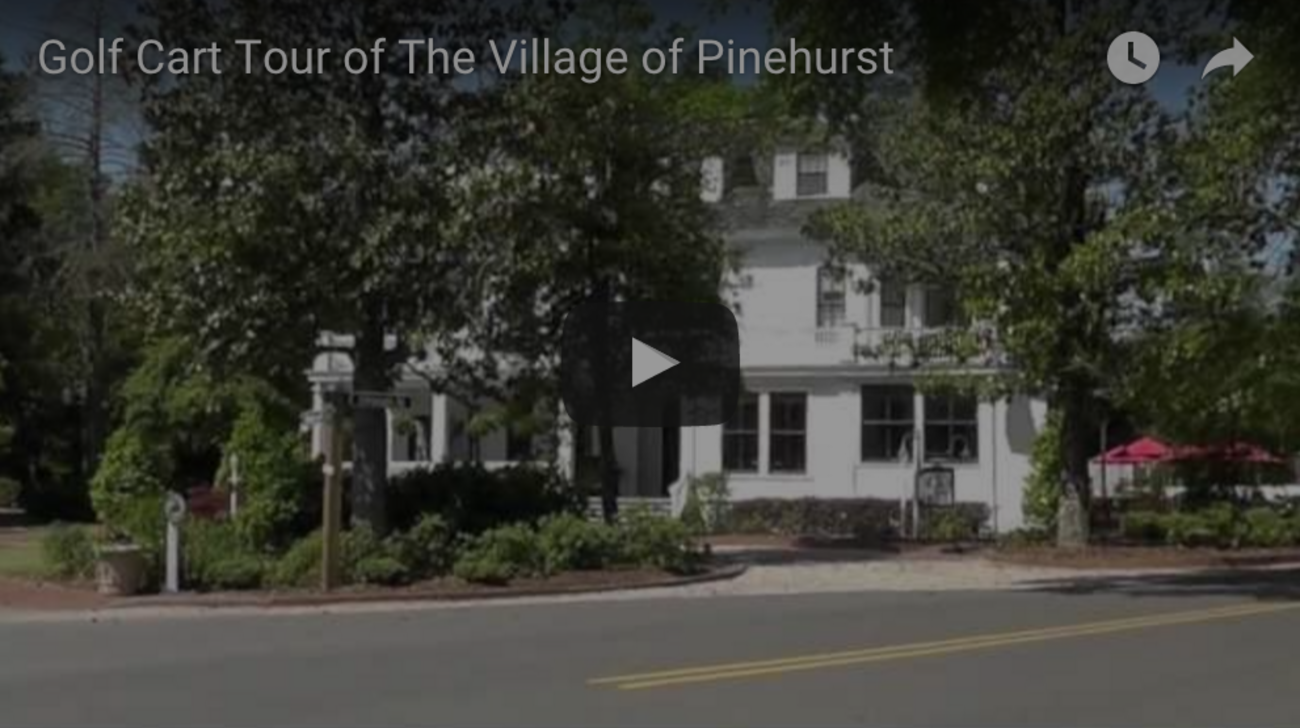 Golf Cart Tour of the Village of Pinehurst 2013
