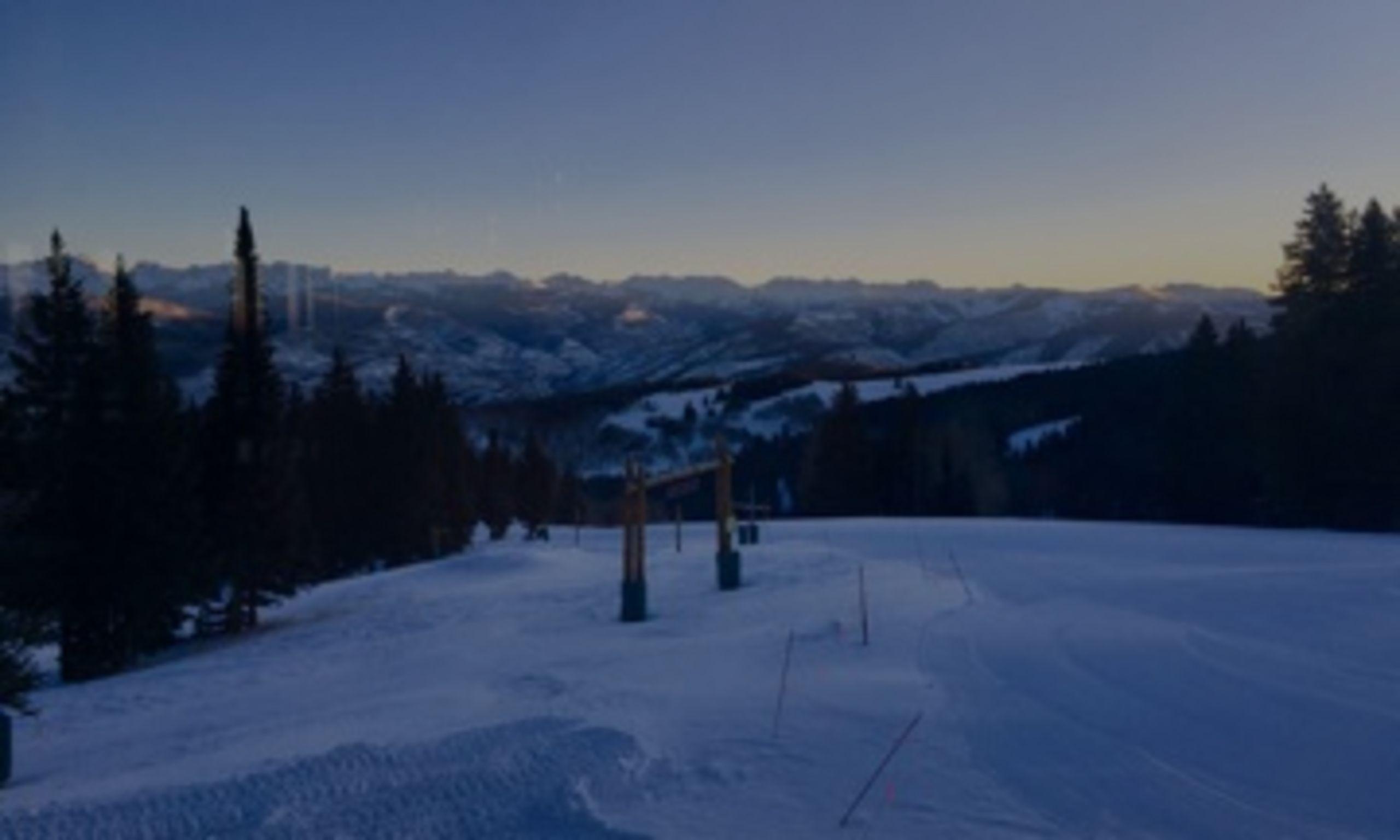 Sunrise over the Gore