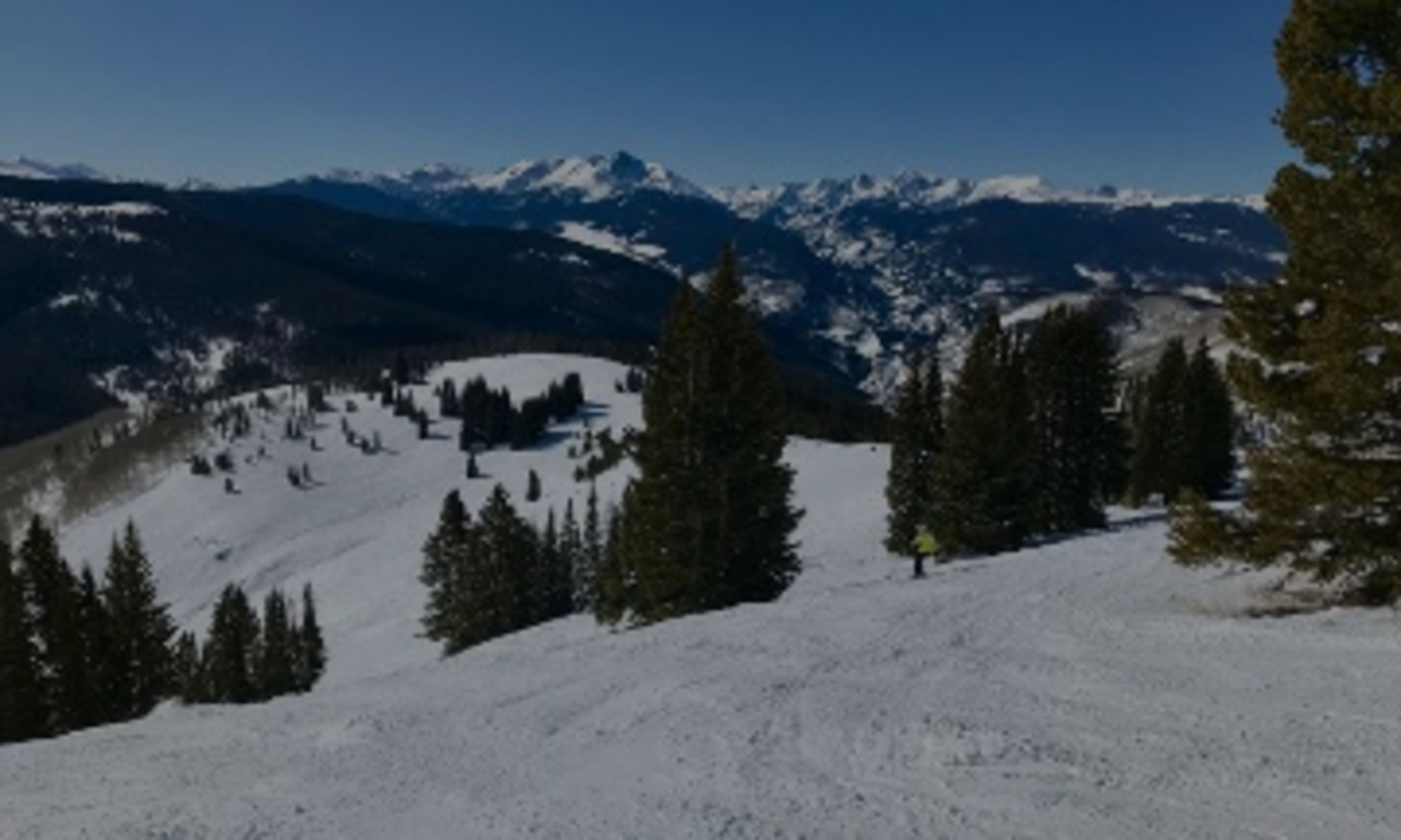 bluebird day in the back bowls