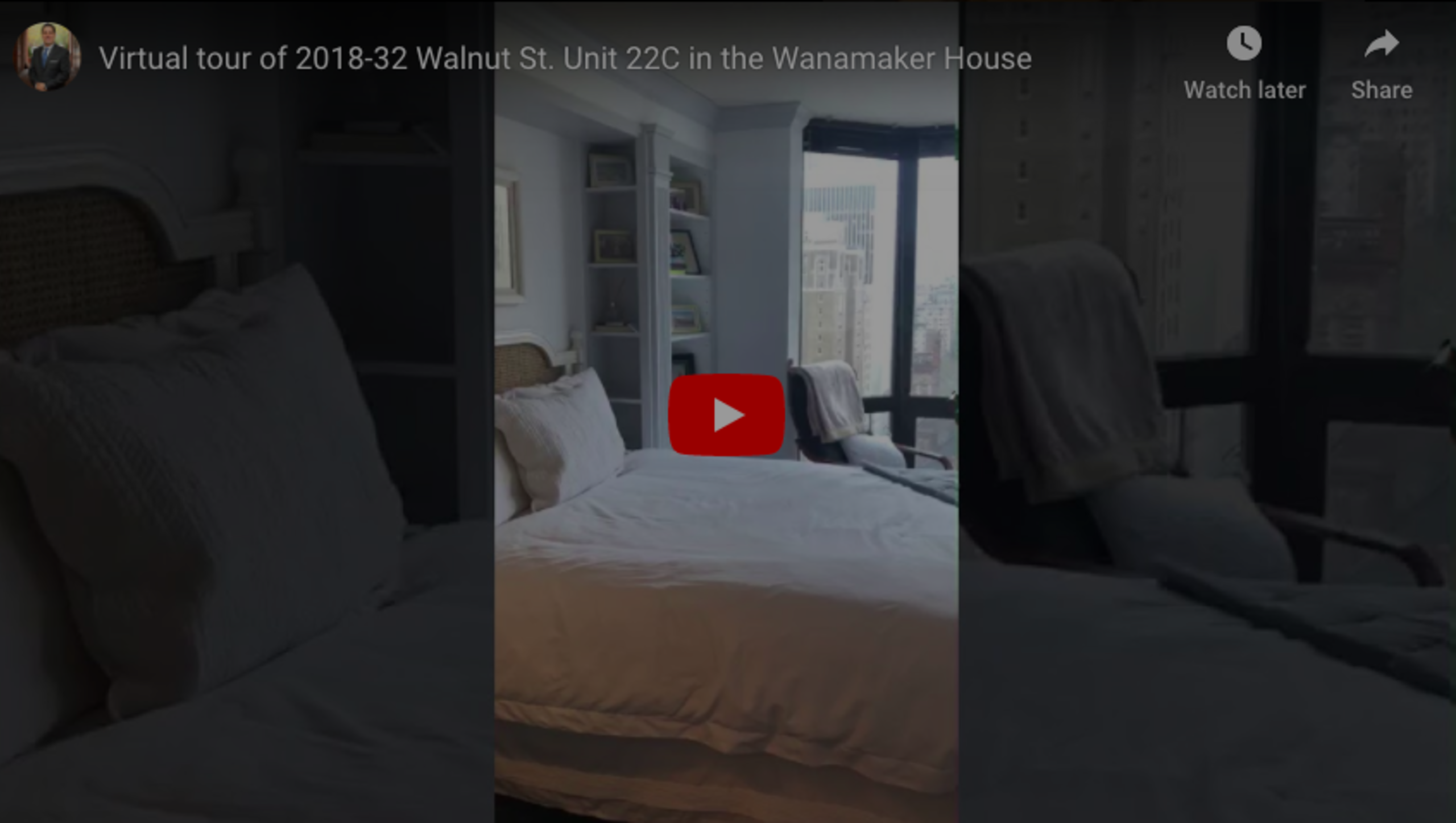 Virtual tour of 2018-32 Walnut St. Unit 22C in the Wanamaker House