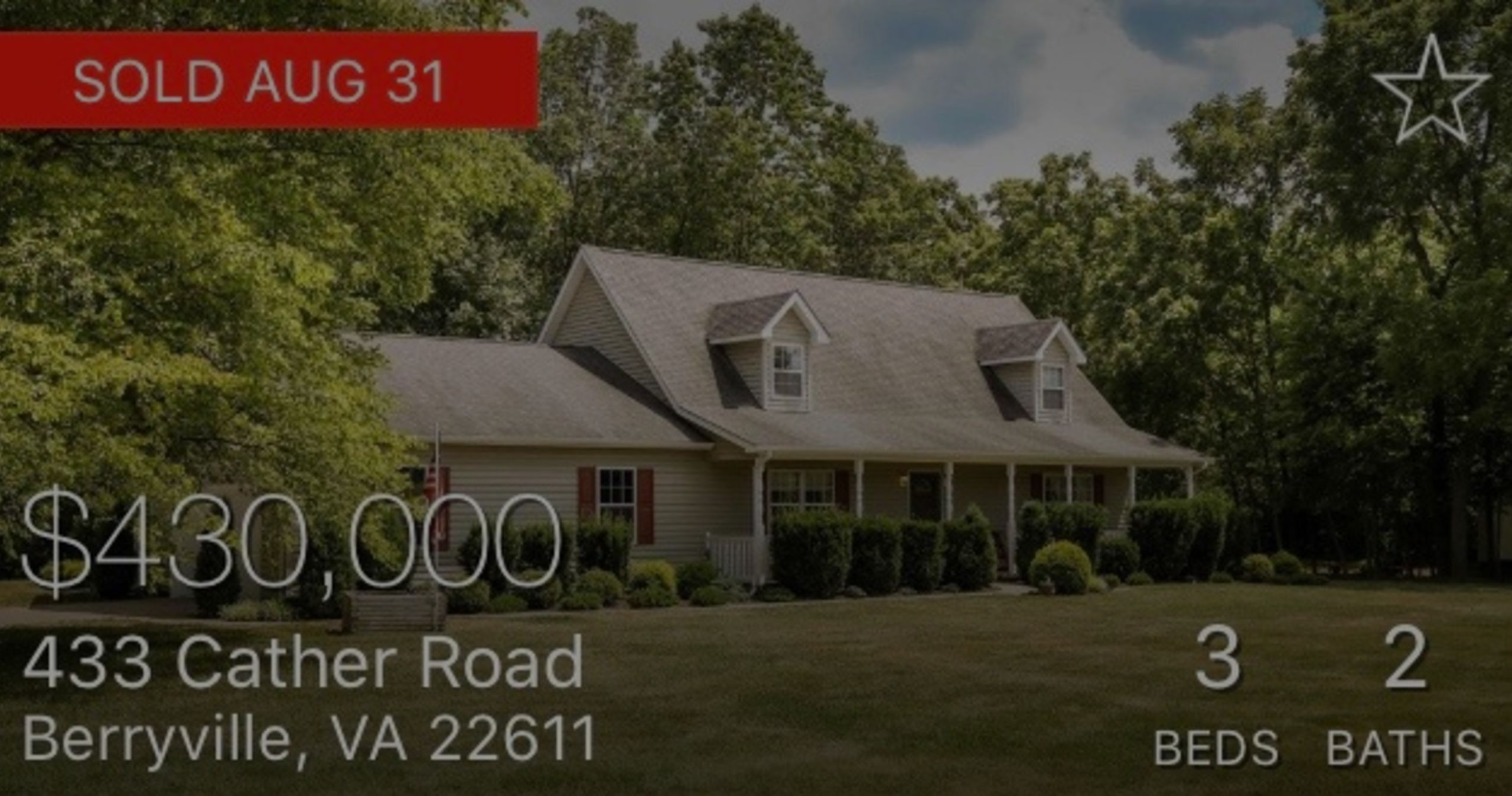 SOLD | 433 Cather Rd, Berryville, VA