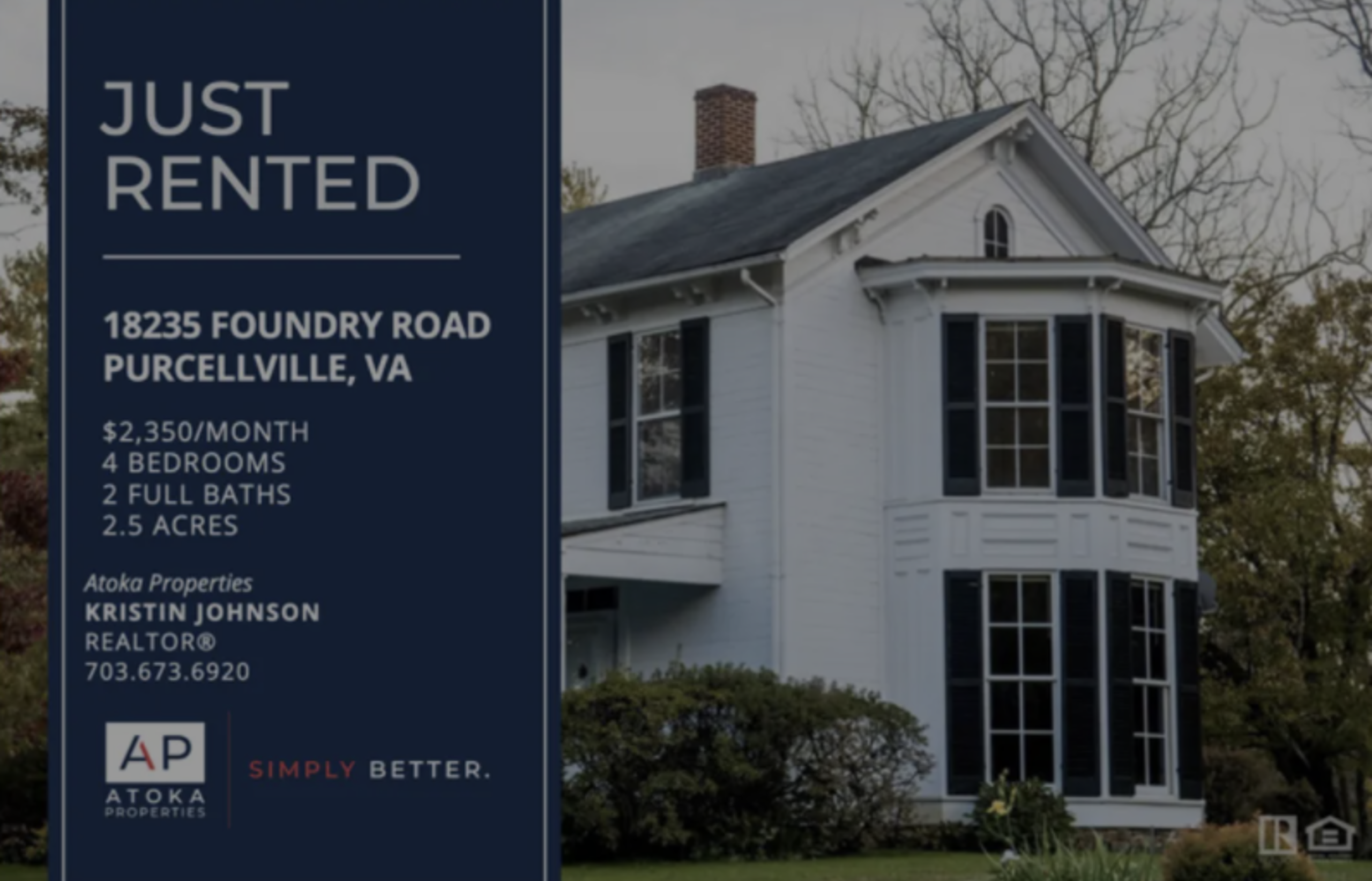 RENTED | 18235 FOUNDRY RD, PURCELLVILLE, VA 20132
