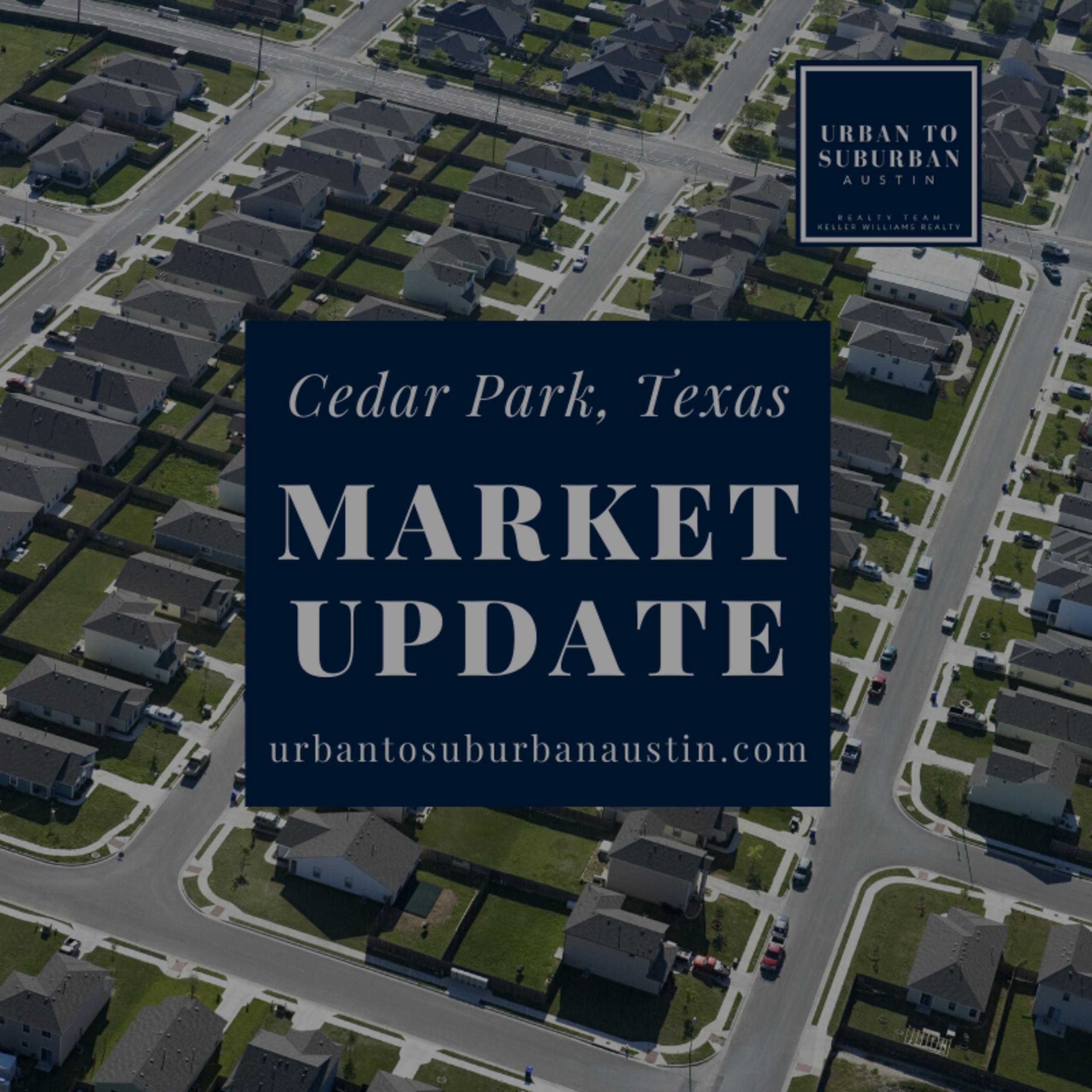 CEDAR PARK, TEXAS HOUSING MARKET UPDATE FOR NOVEMBER 2019