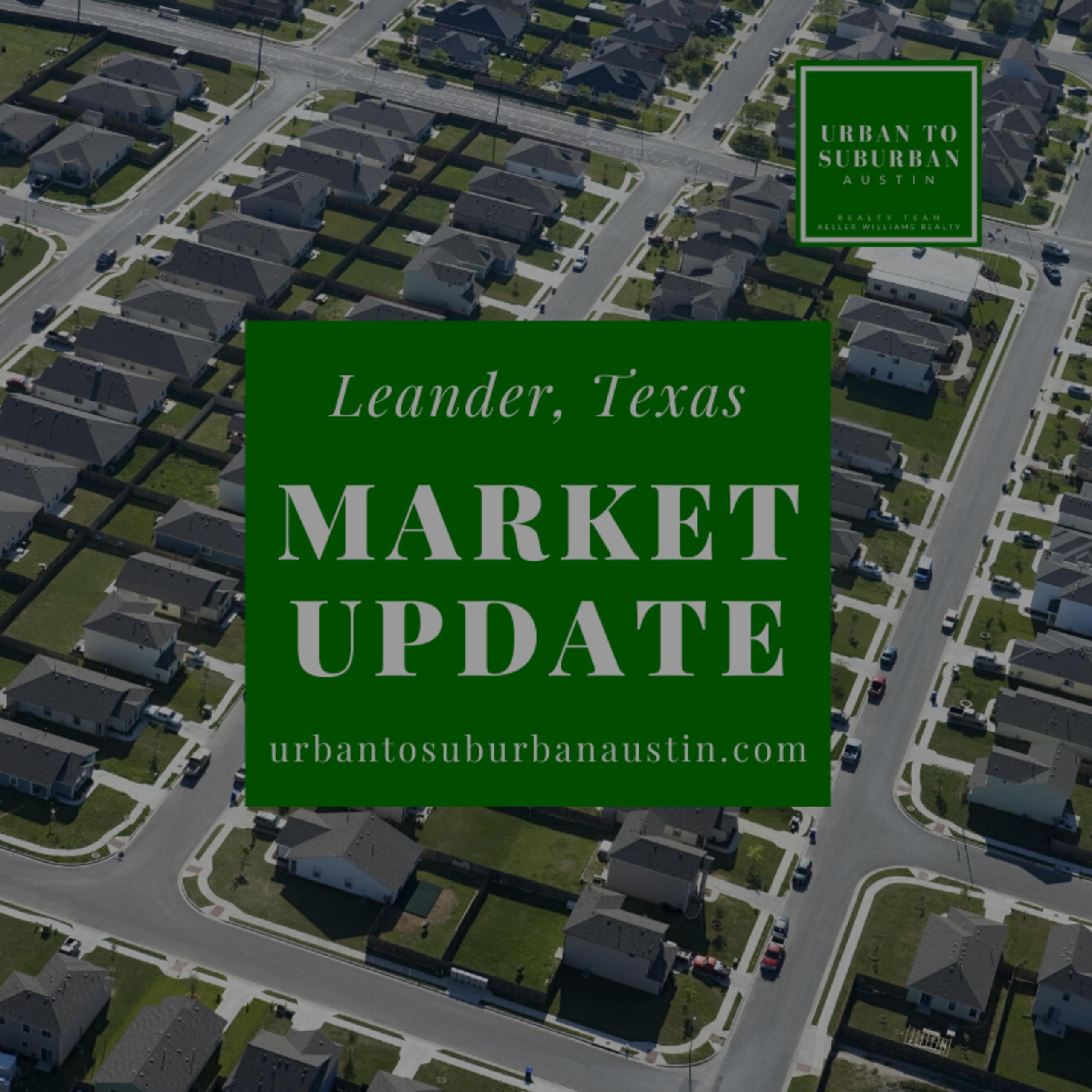 LEANDER, TEXAS HOUSING MARKET UPDATE FOR NOVEMBER 2019
