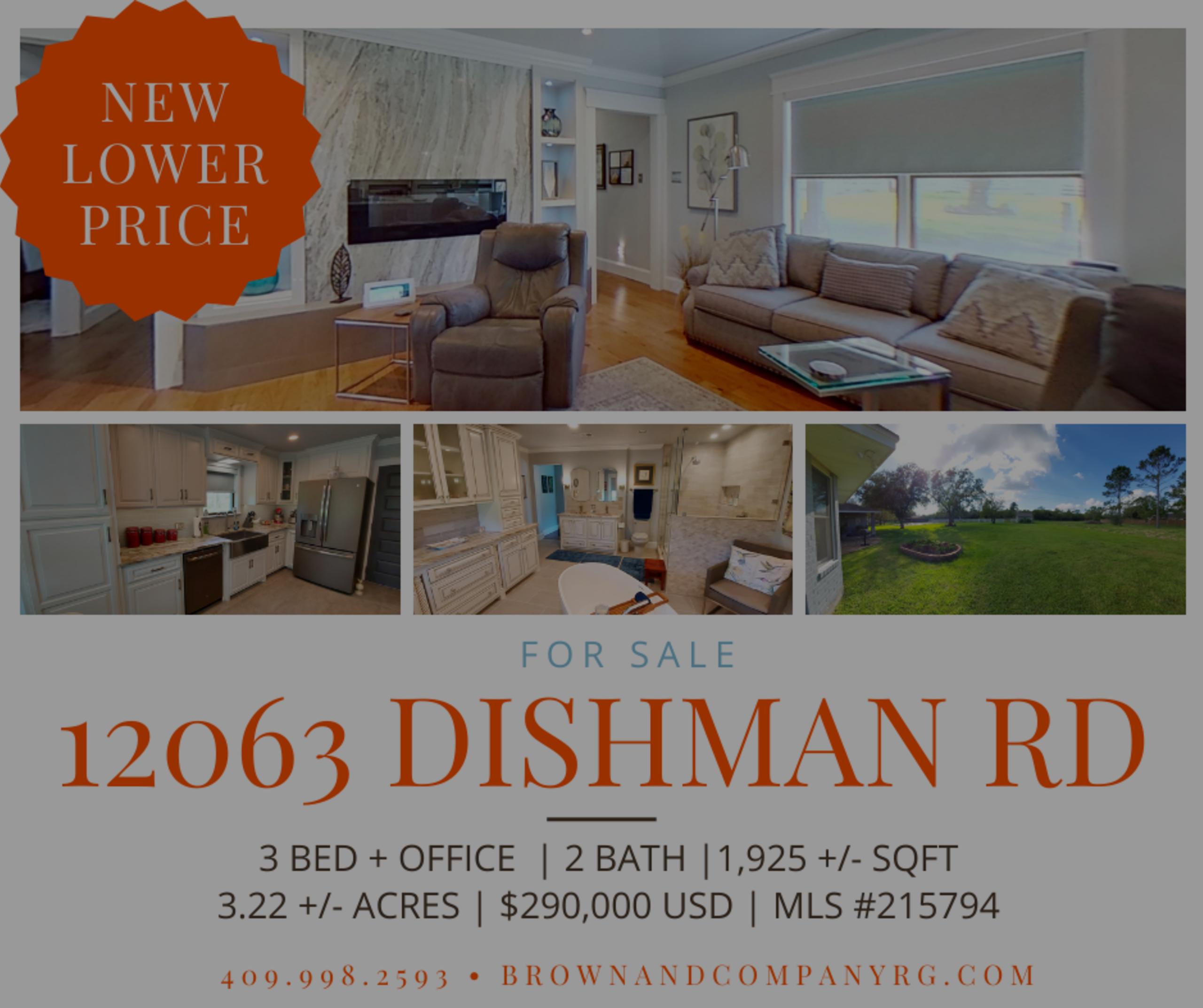 NEW PRICE ALERT | 12063 Dishman Rd | Beaumont TX 77713