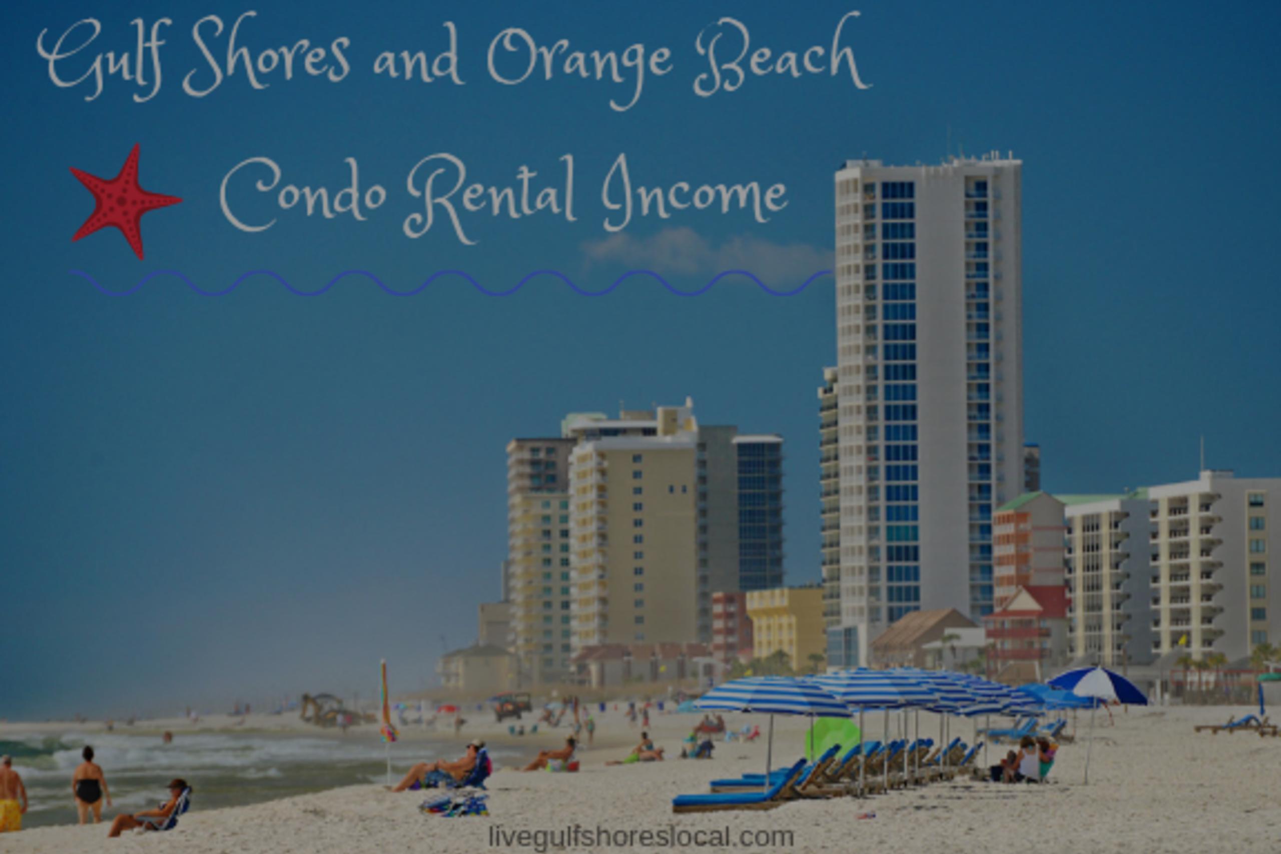 Gulf Shores and Orange Beach Condo Rental Income