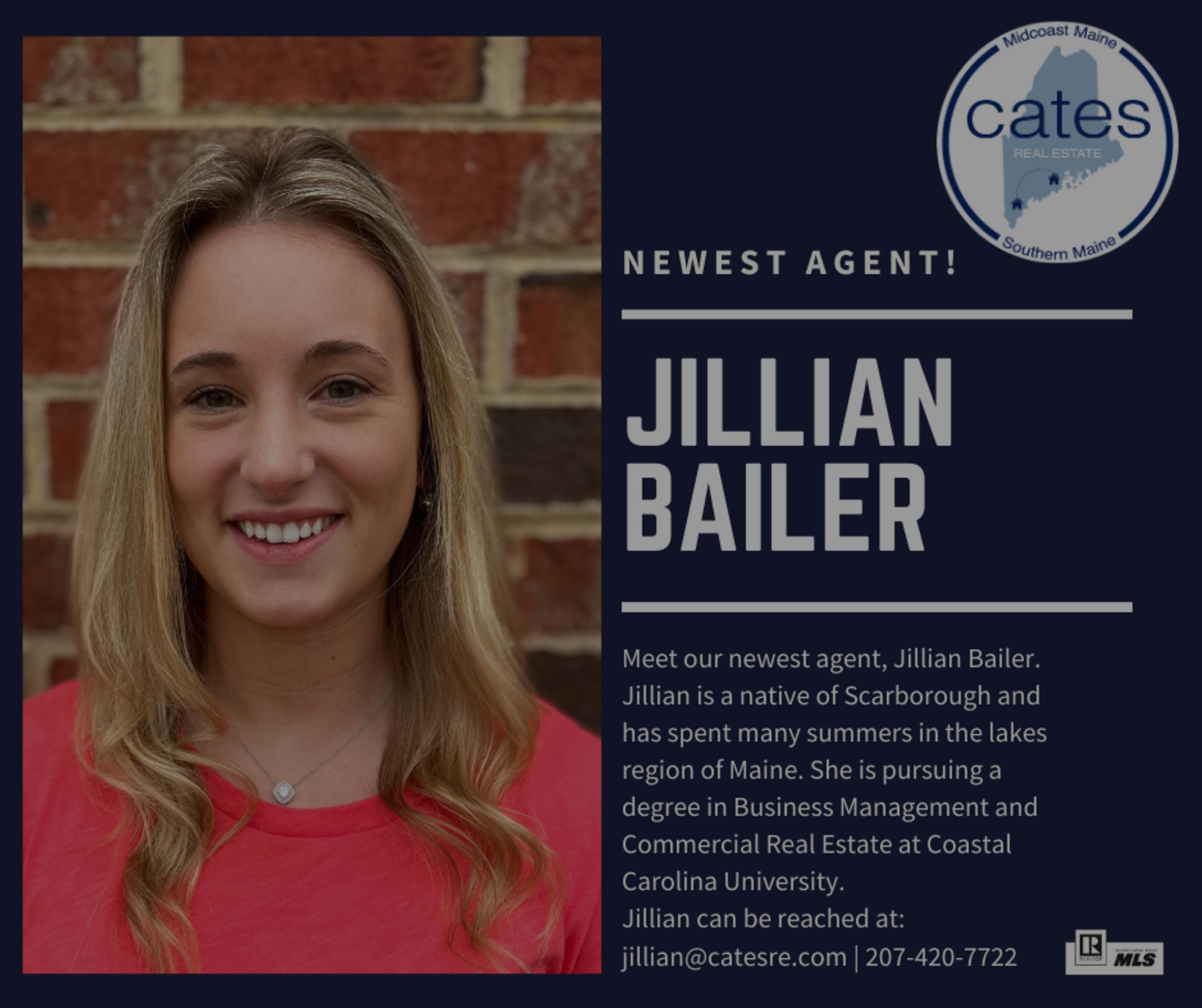 Cates Real Estate Welcomes Jillian Bailer