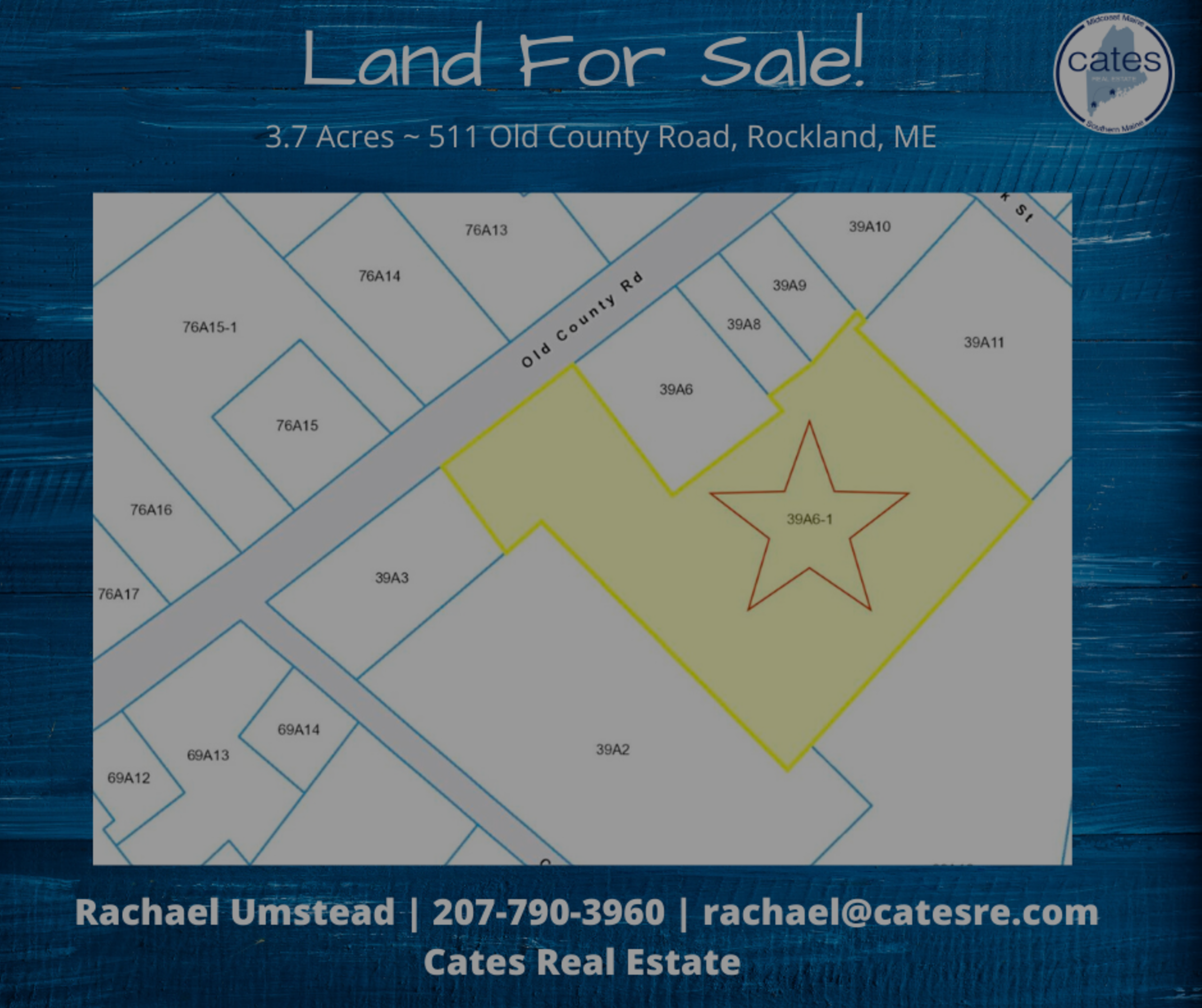 511 Old County Road, Rockland, Maine- Land For Sale