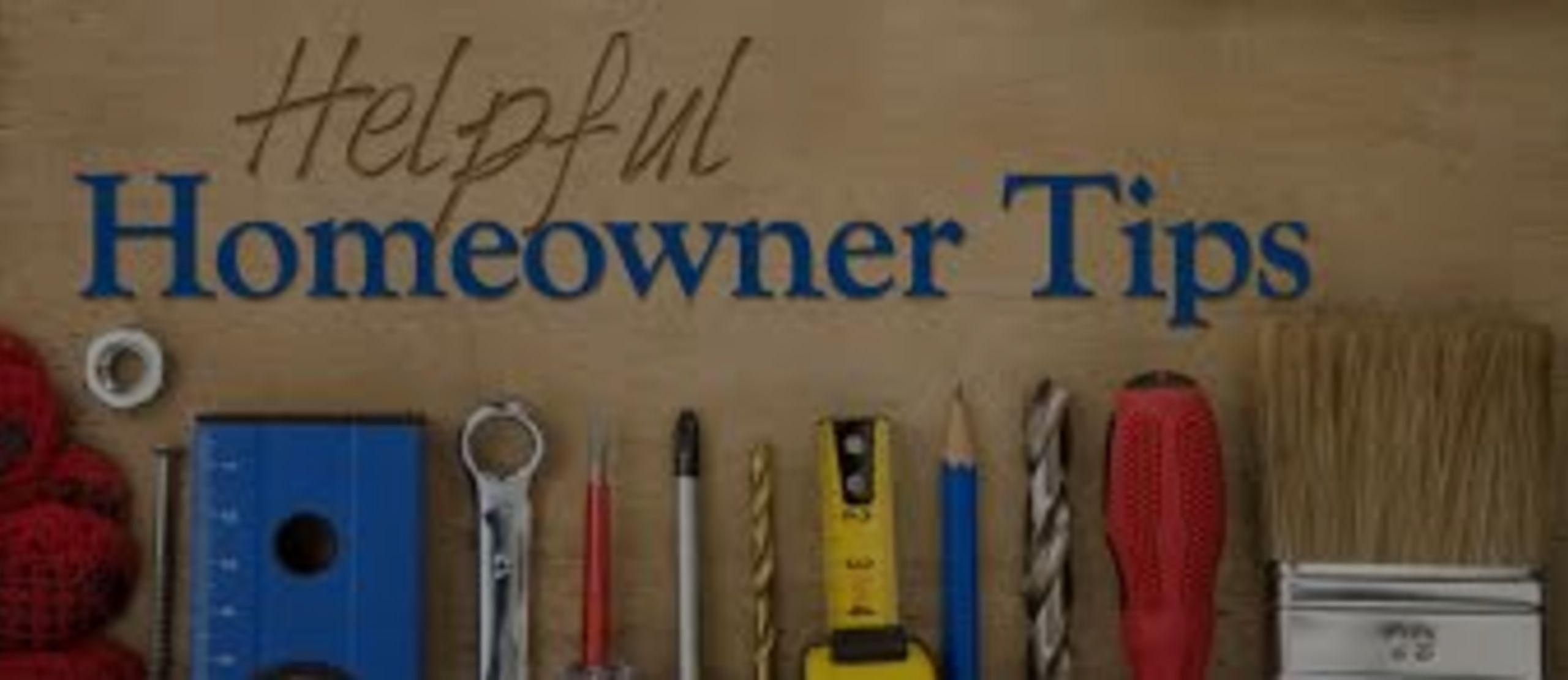 Home Maintenace Tips