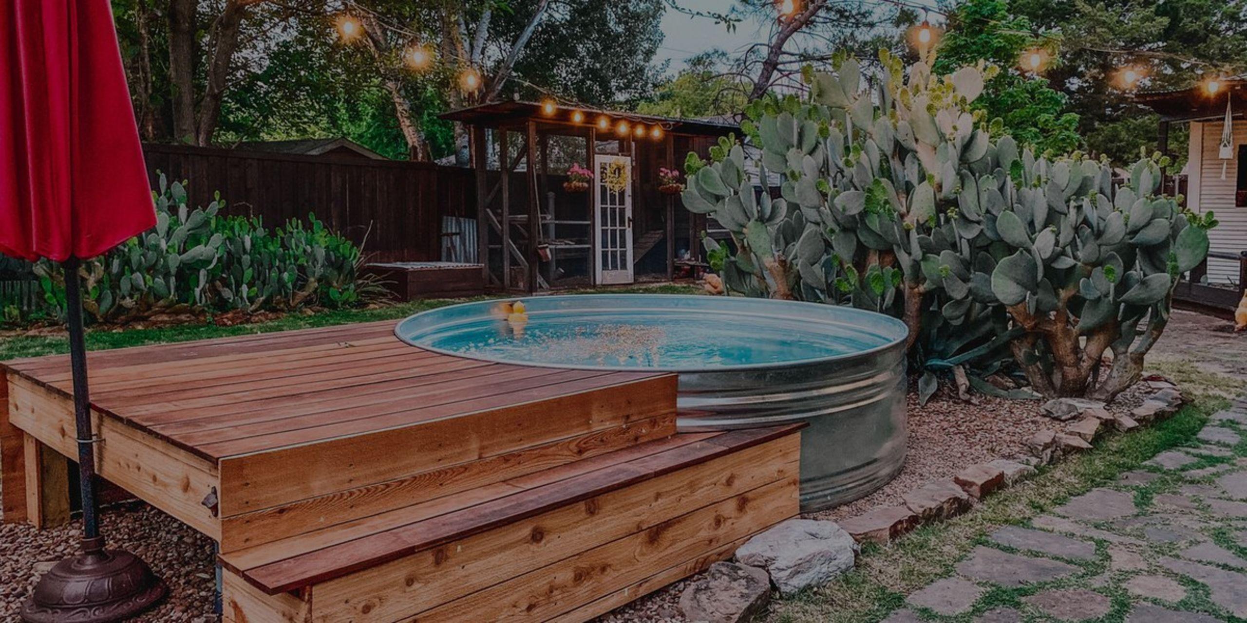 Backyard Trend: Stock Tank Pools