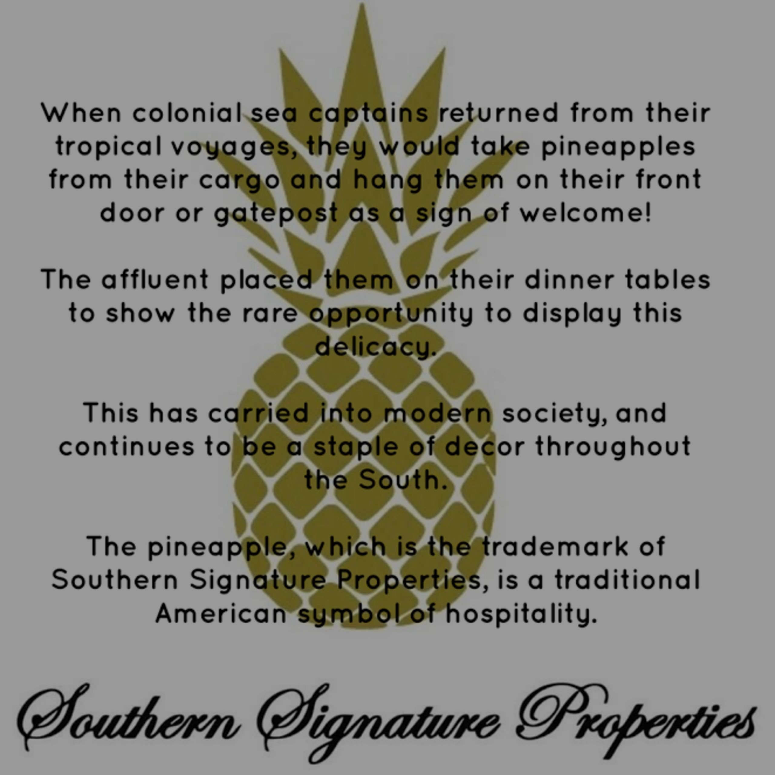 The Story Behind the Pineapple