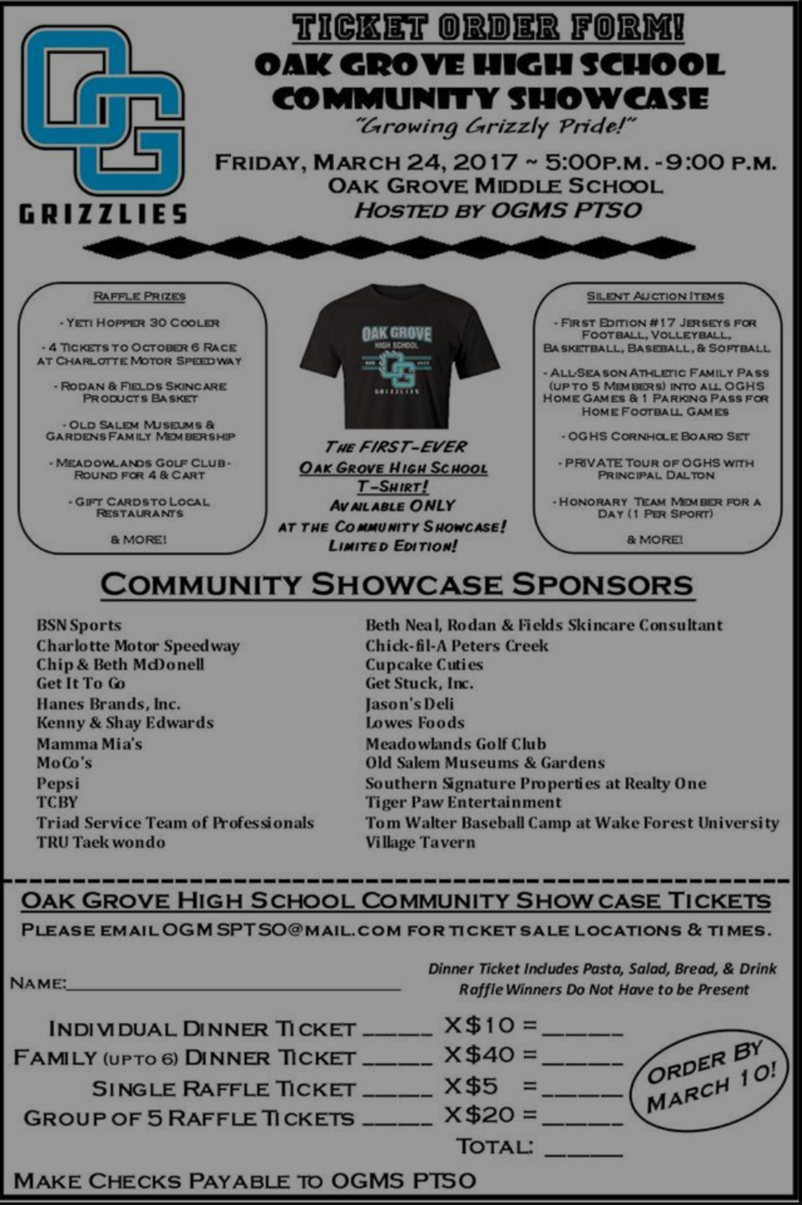 Oak Grove High School Fundraiser!