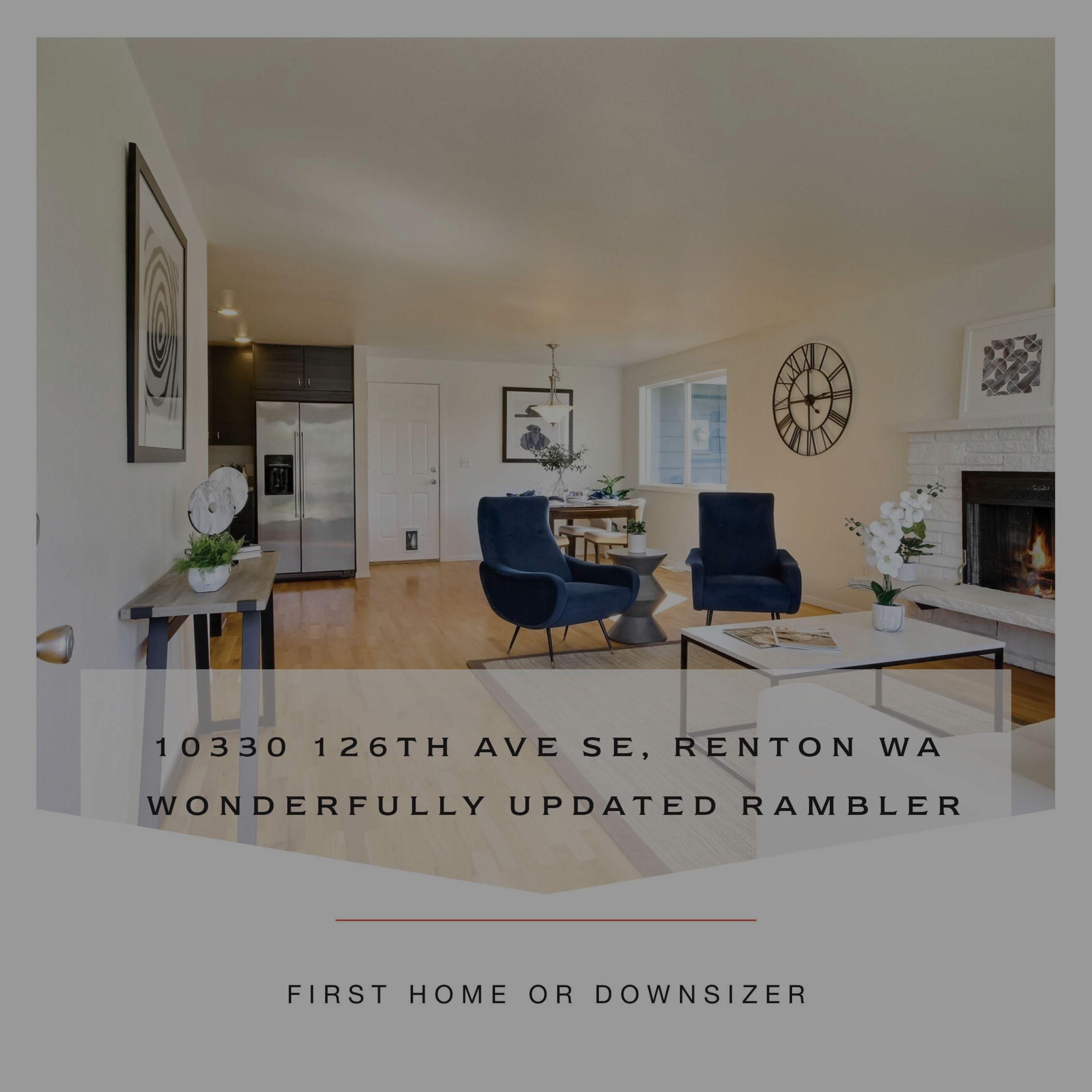 Rare Renton Rambler with Huge Yard