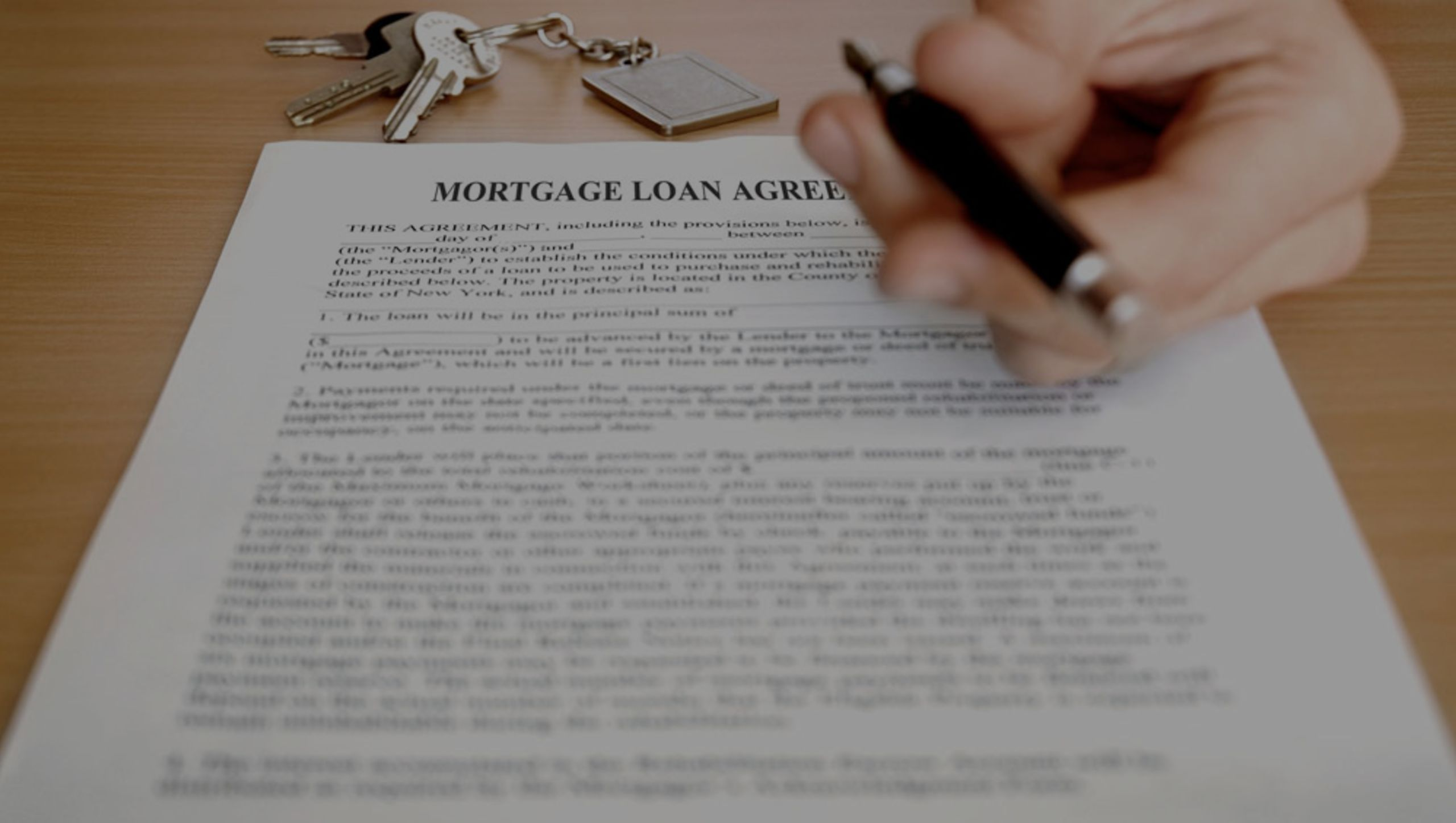 Initiating the mortgage process