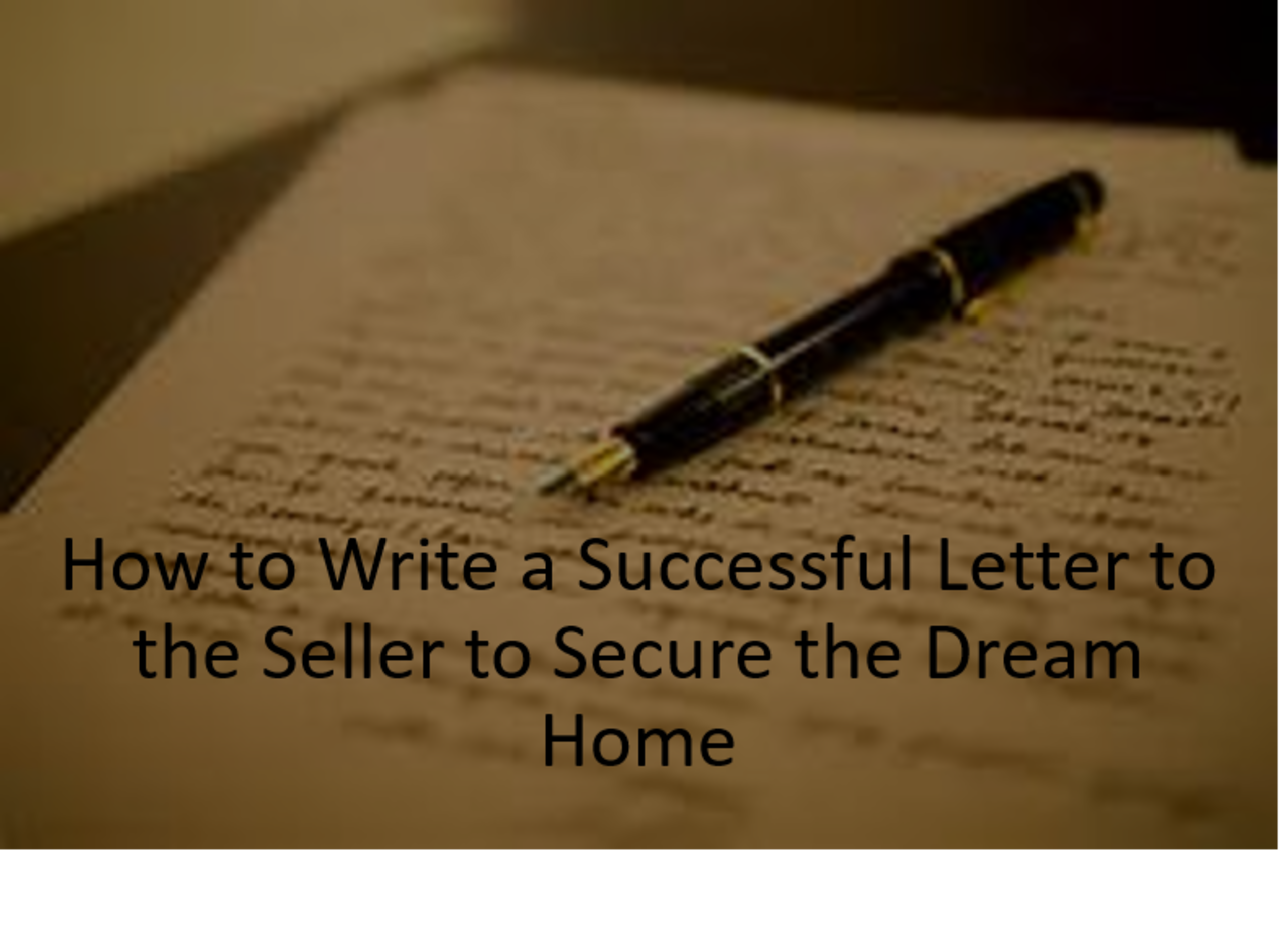 Letter to the seller