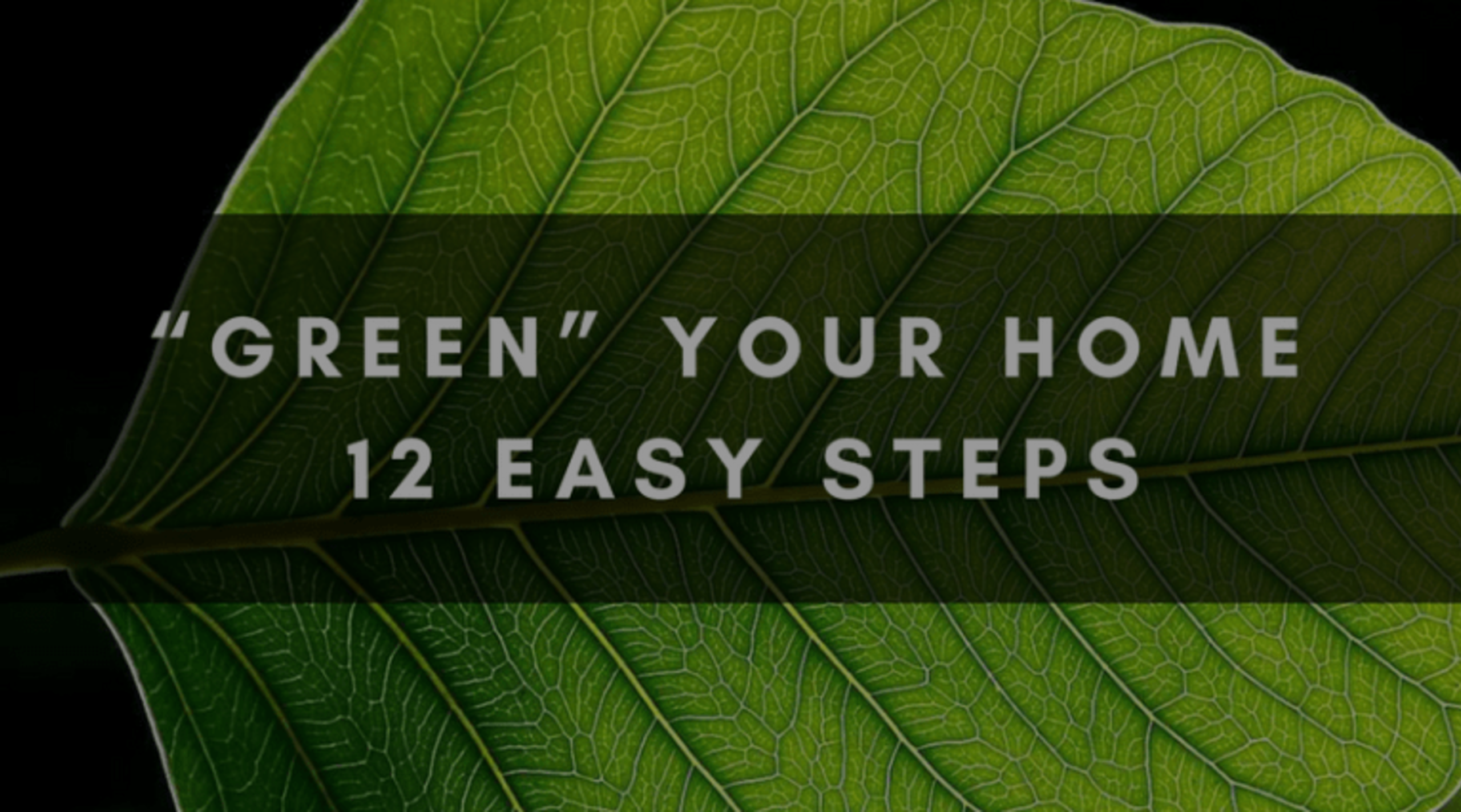 """""""GREEN"""" YOUR HOME 