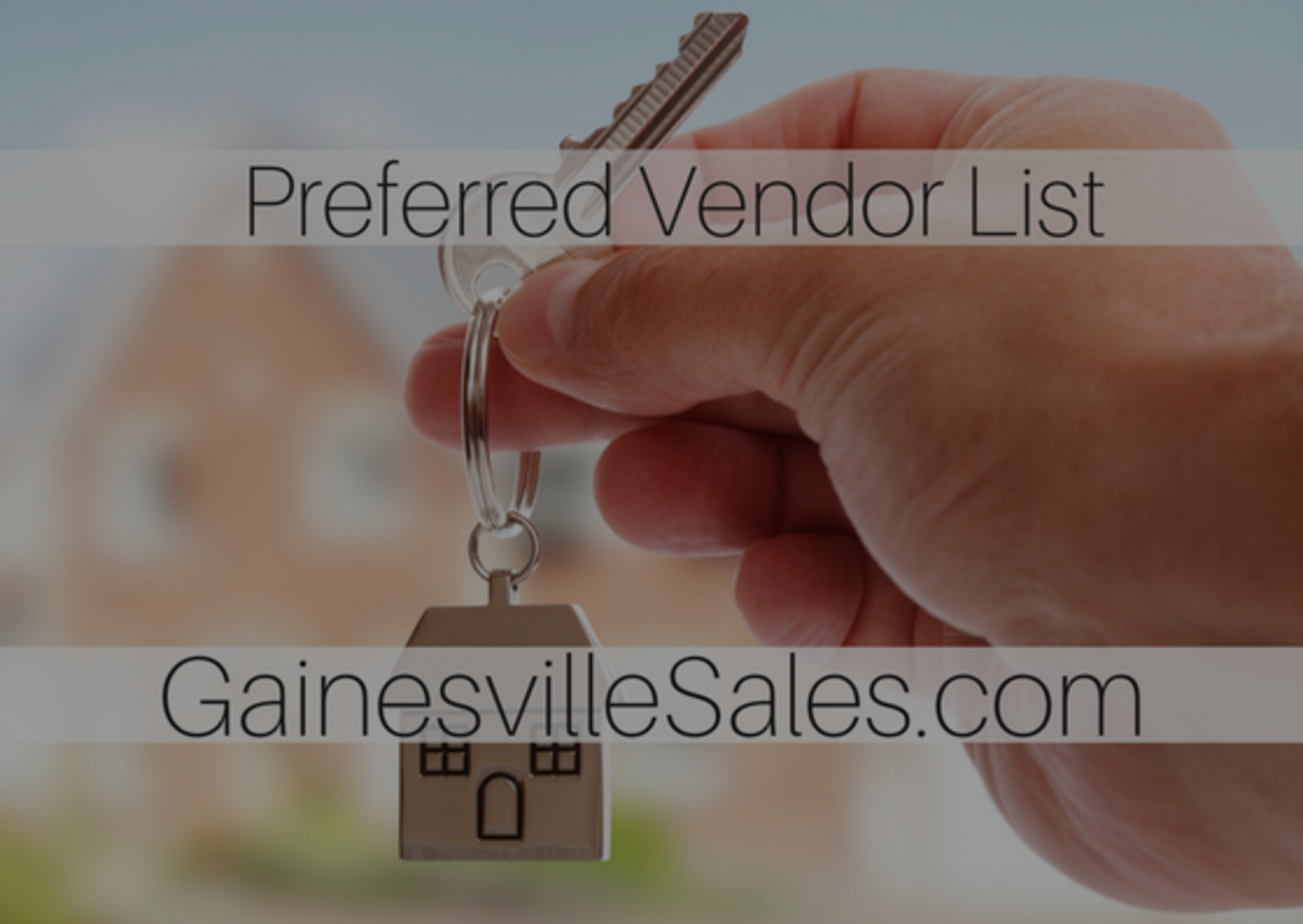 The Gainesville Sales Preferred Vendors