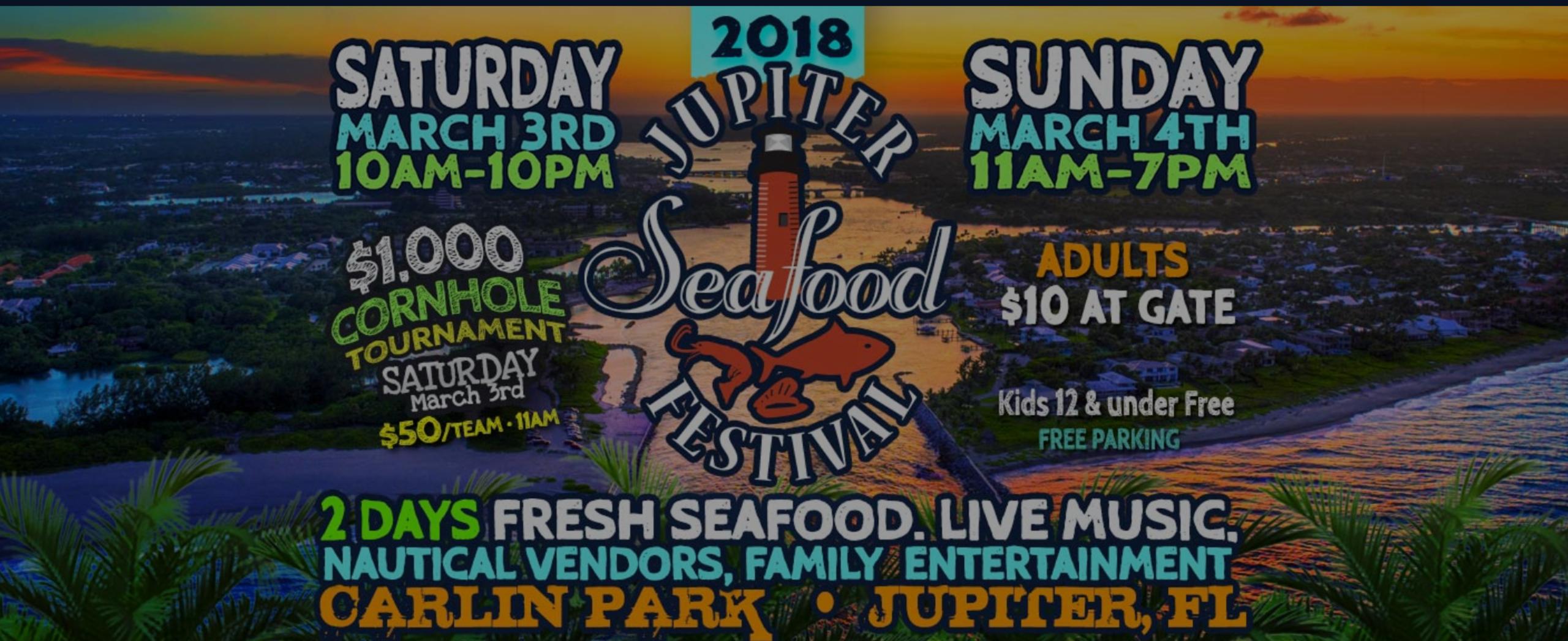 Seafood Festival at Carlin Park in Jupiter!