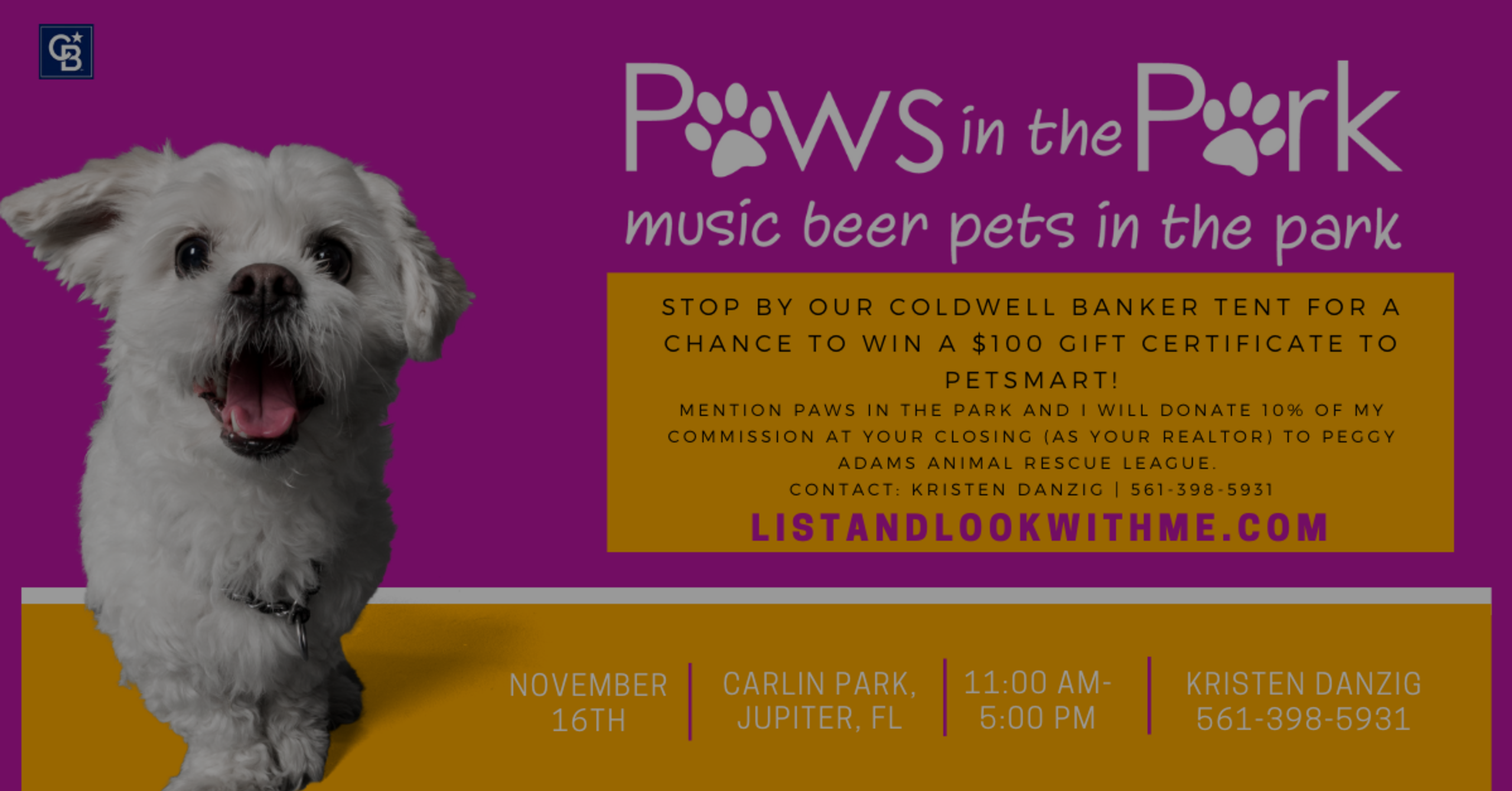Paws in the Park – Saturday   11 to 5pm