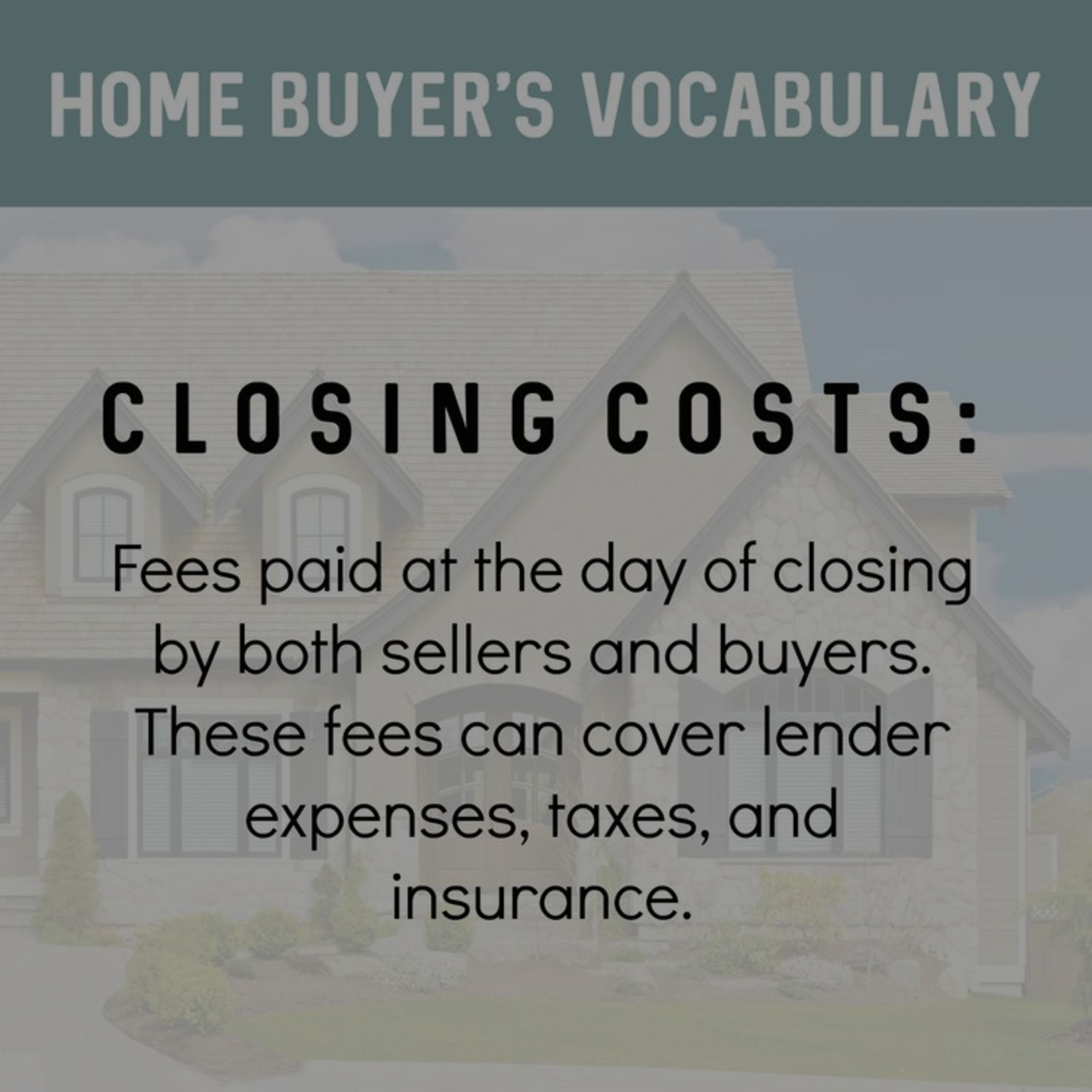 Closing costs-what are they?