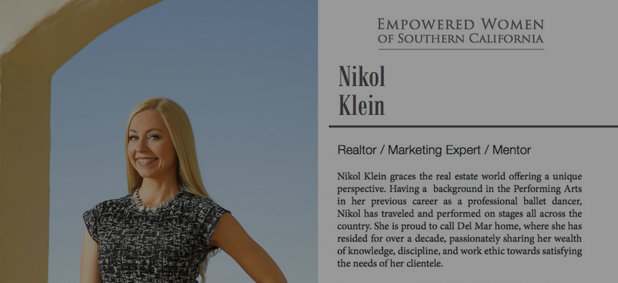 Nikol Featured in Empowered Women of Southern California