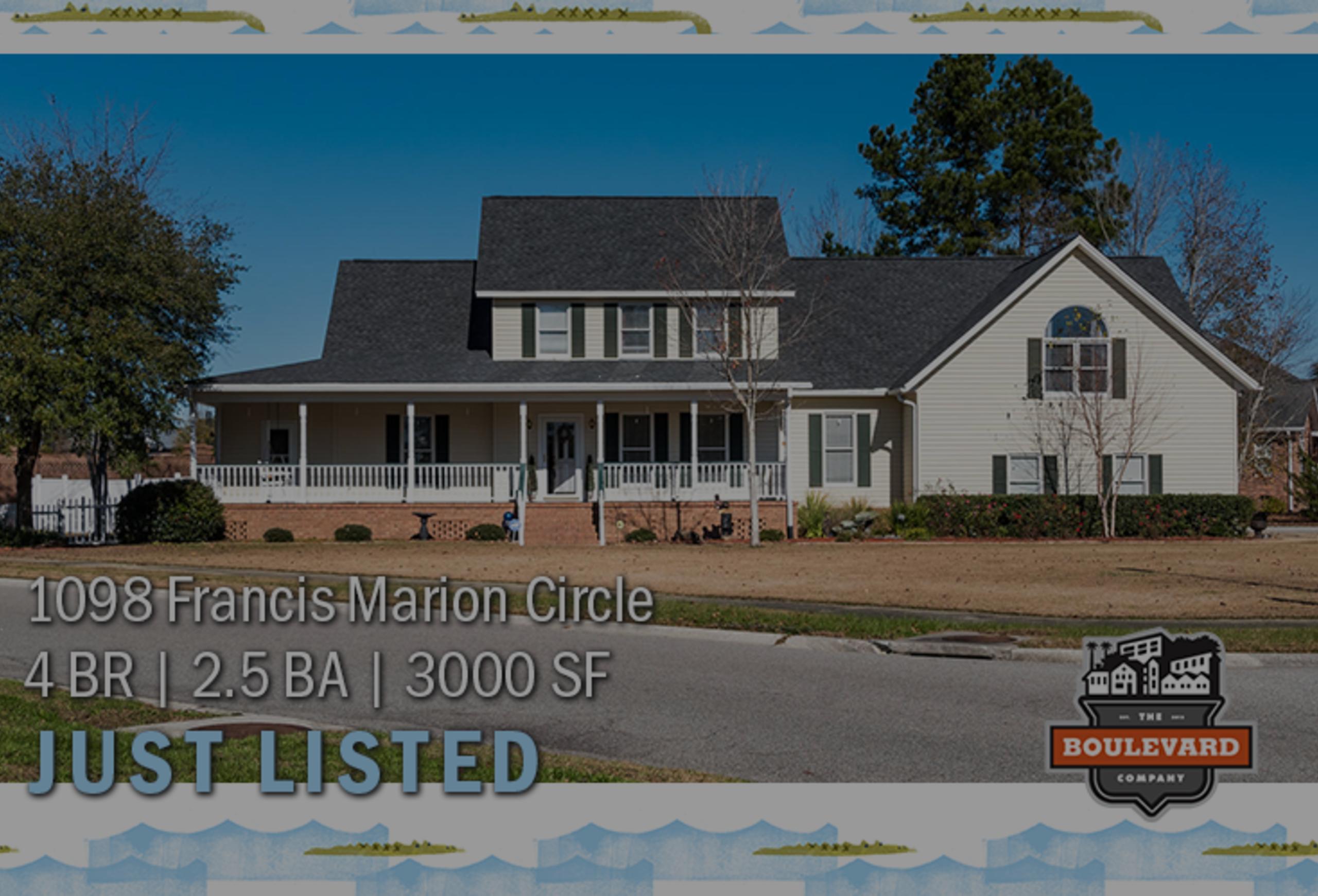 new listing: 1098 Francis Marion Circle