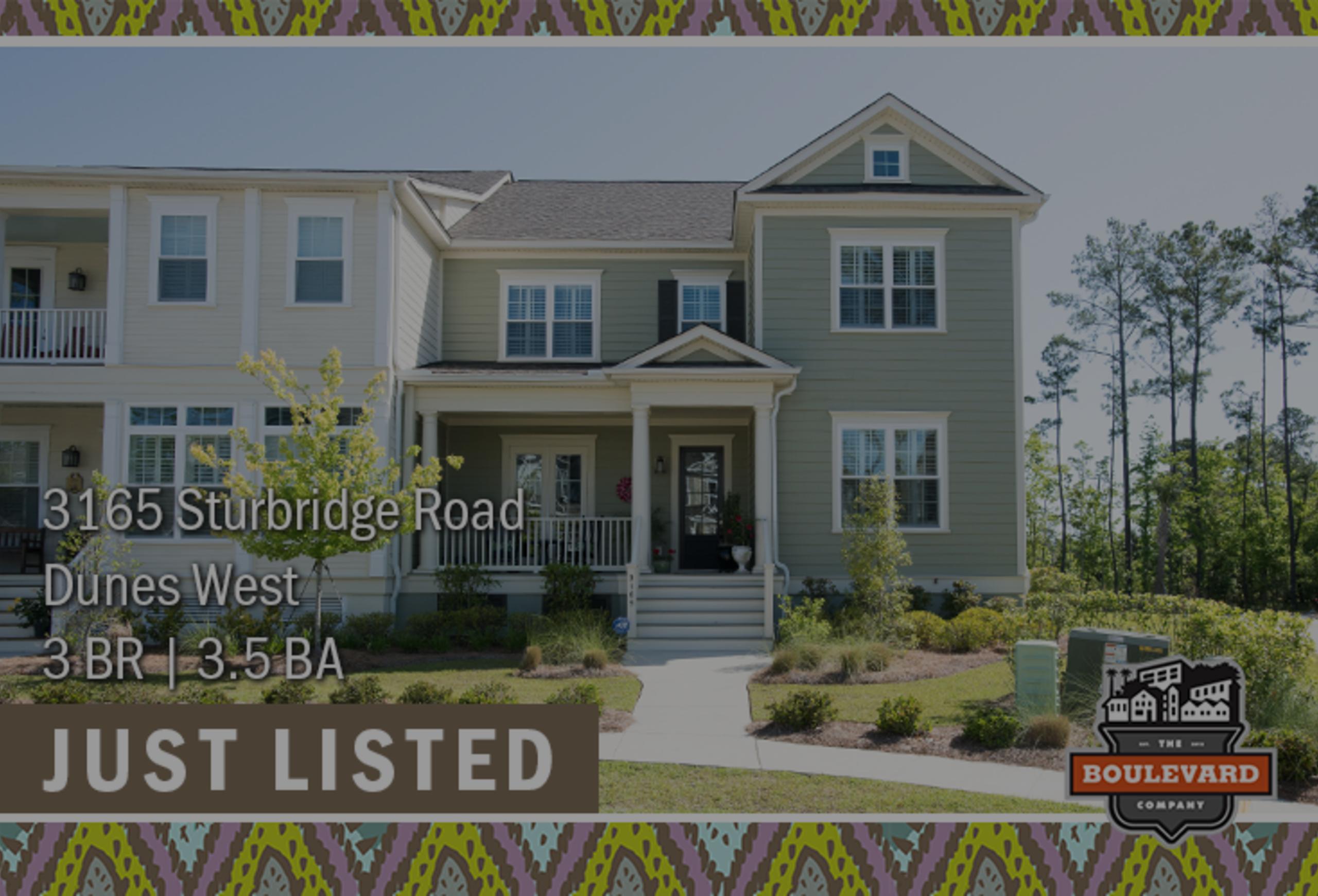 new listing: 3165 Sturbridge Road in Dunes West