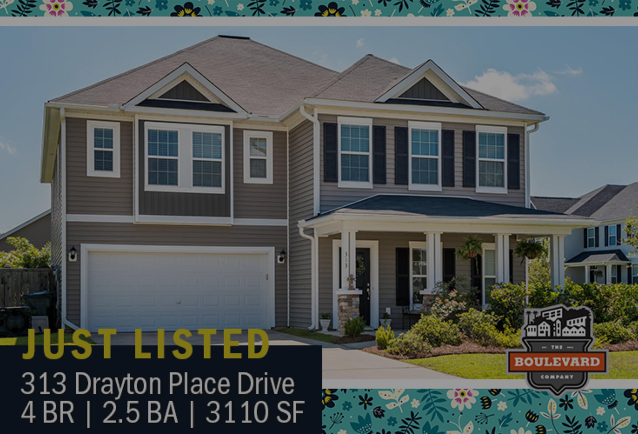 new listing: 313 Drayton Place Drive, Spring Grove Plantation