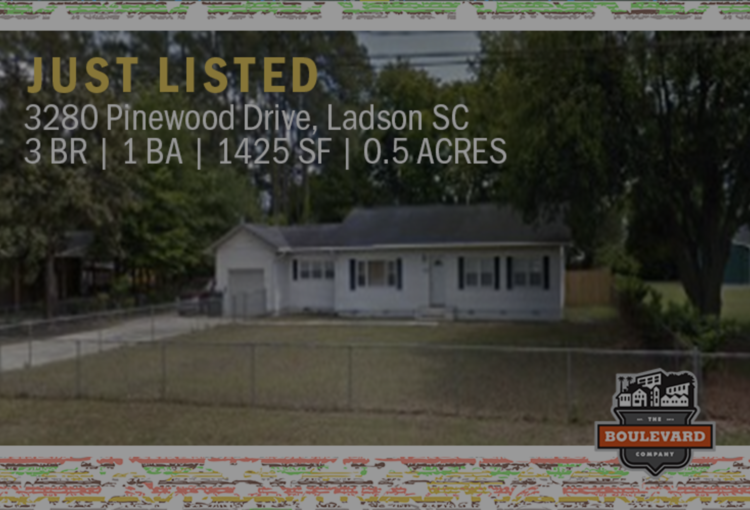 new listing: 3280 Pinewood Drive in Ladson