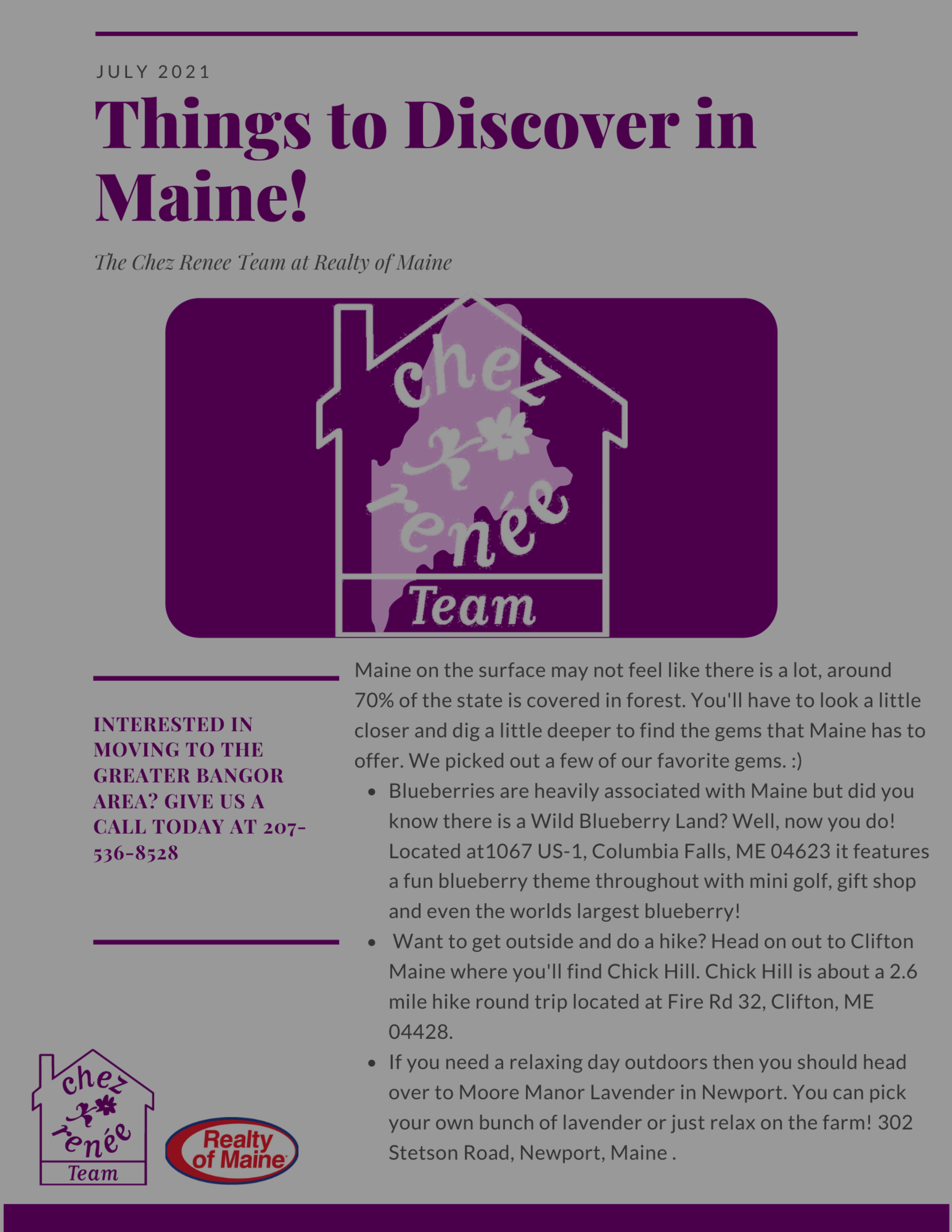 Things to Discover in Maine