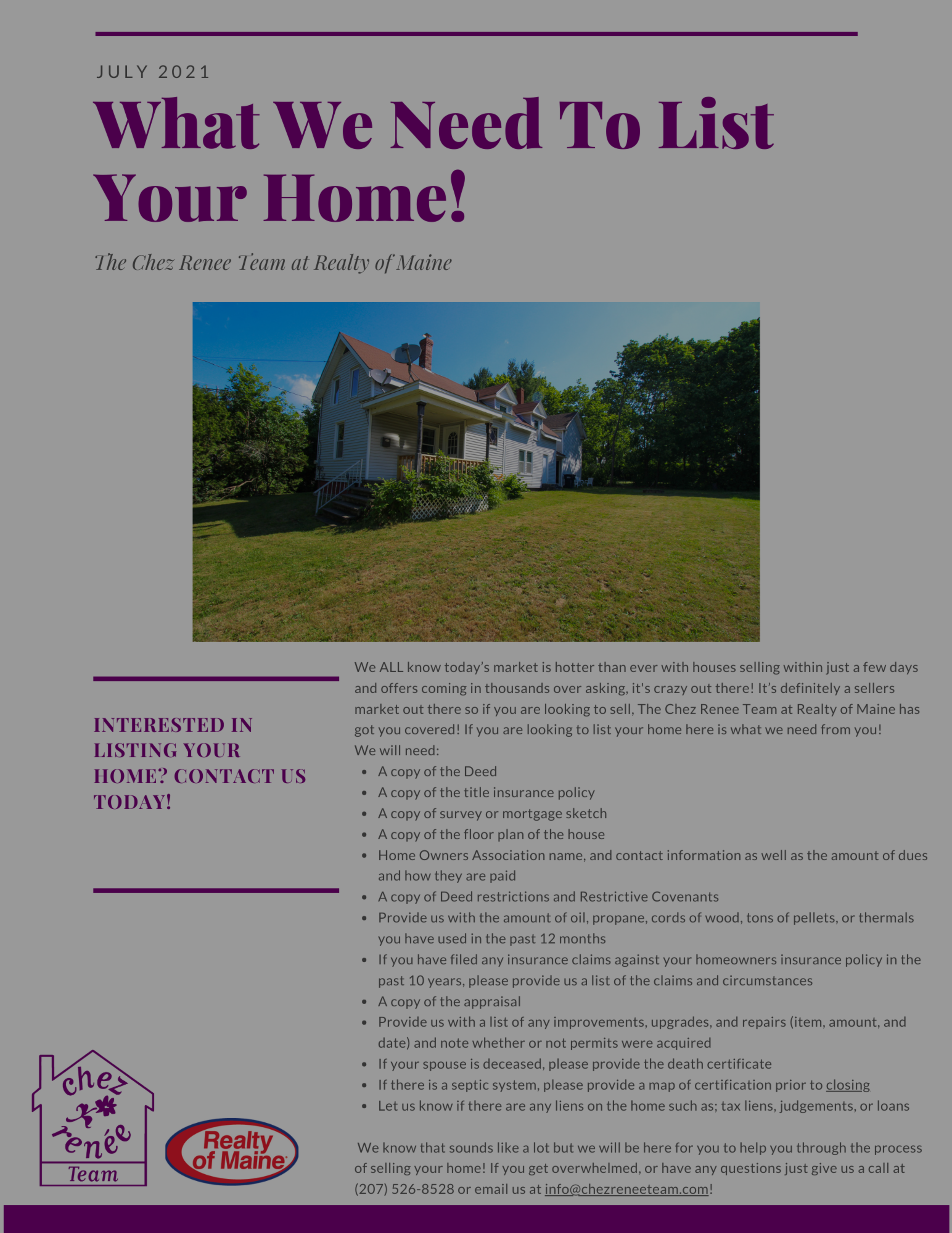 What We Need To List Your Home