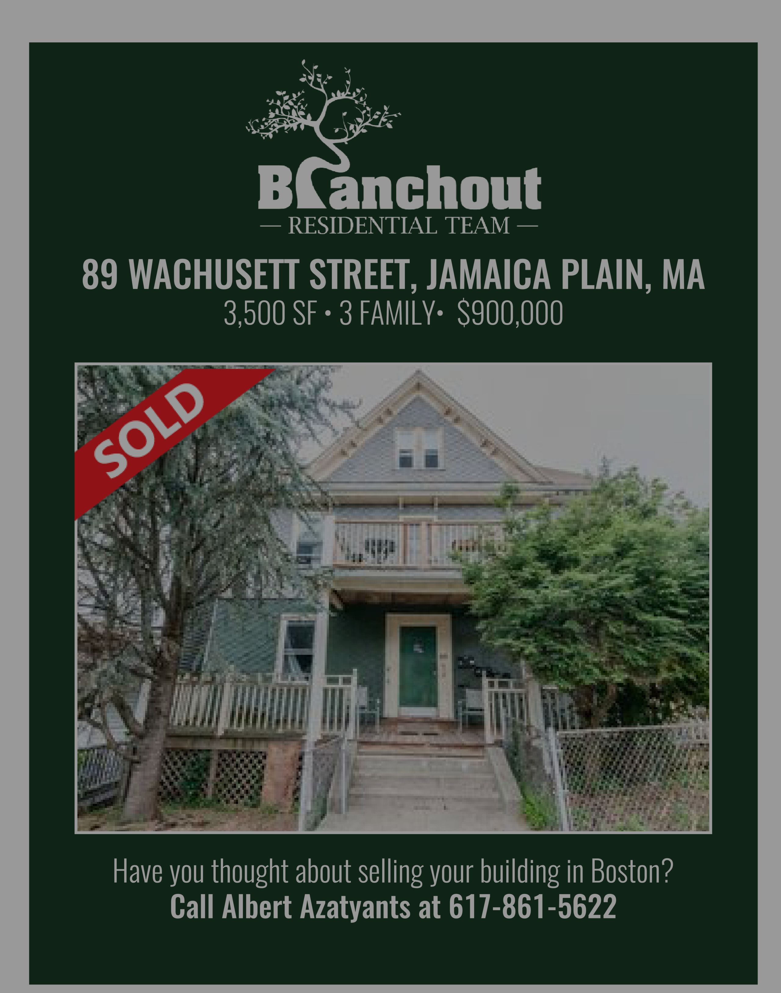 Just Sold! Investment Property In Jamaica Plain