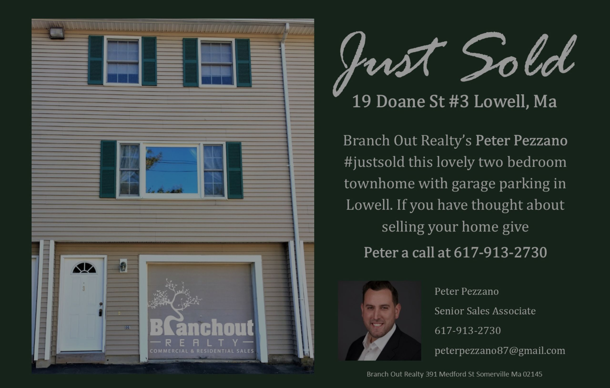 Just Sold – Two-Bedroom In Lowell!