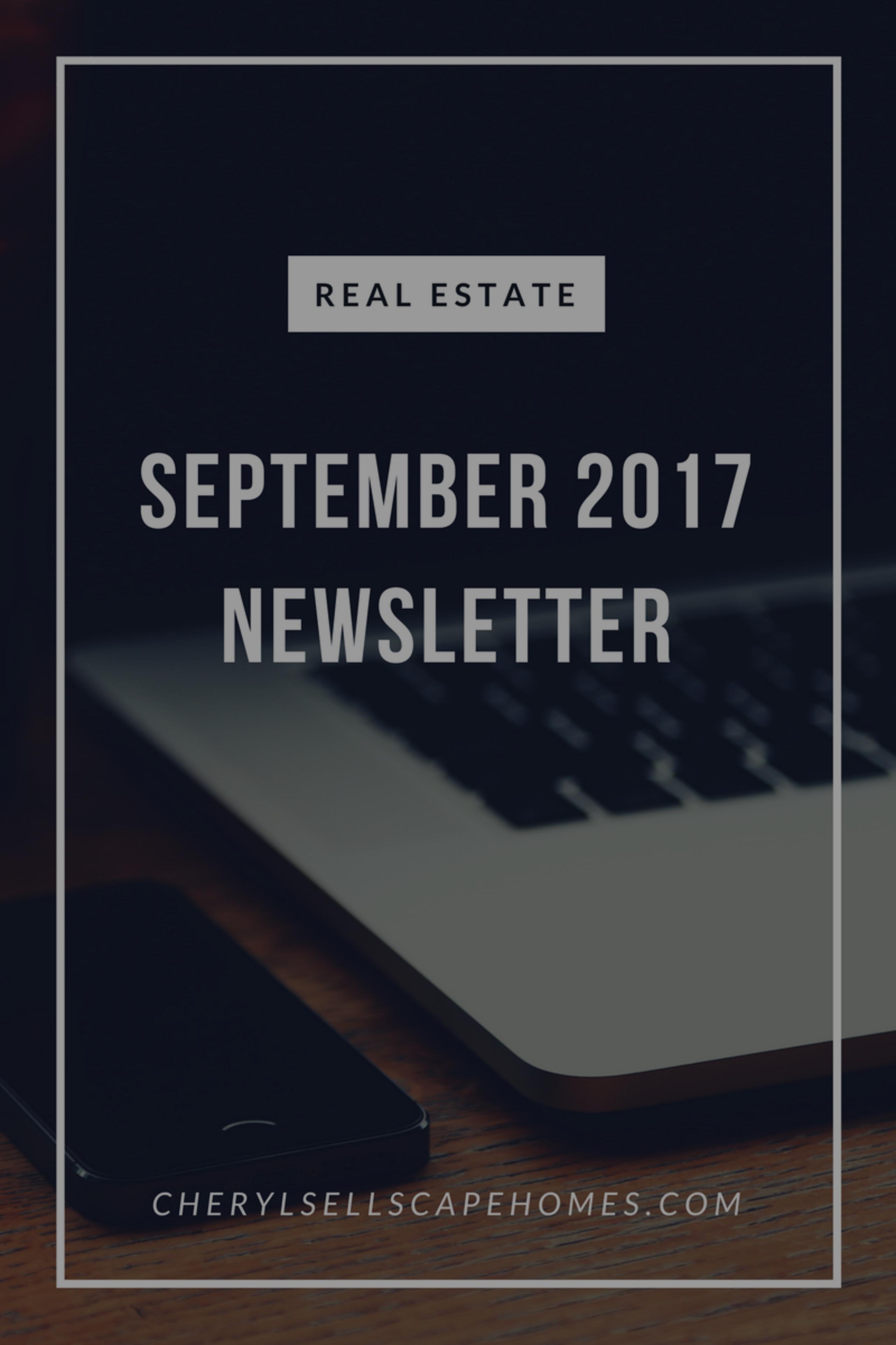September 2017 Real Estate News For You