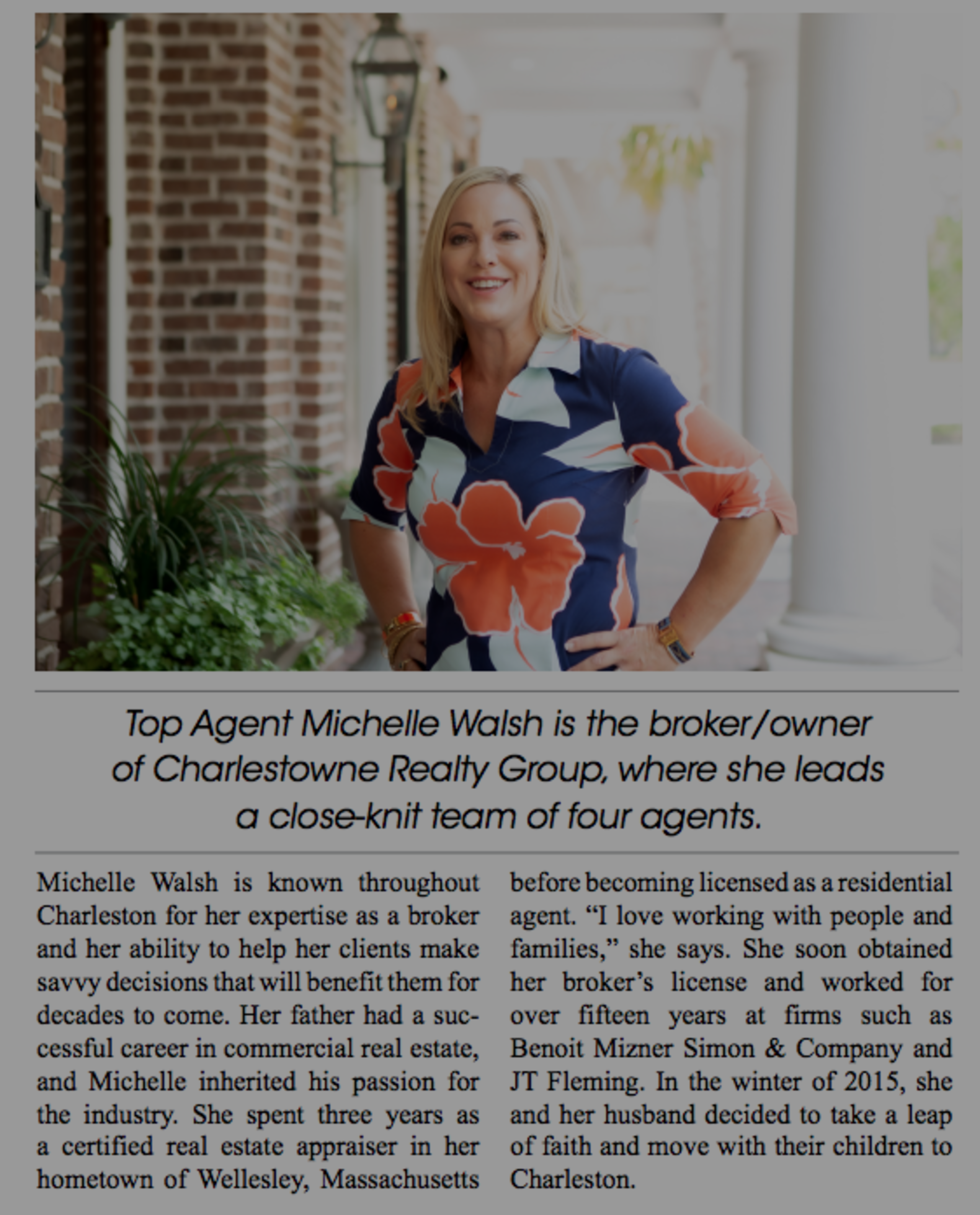 Top Agent Magazine featuring Michelle Walsh