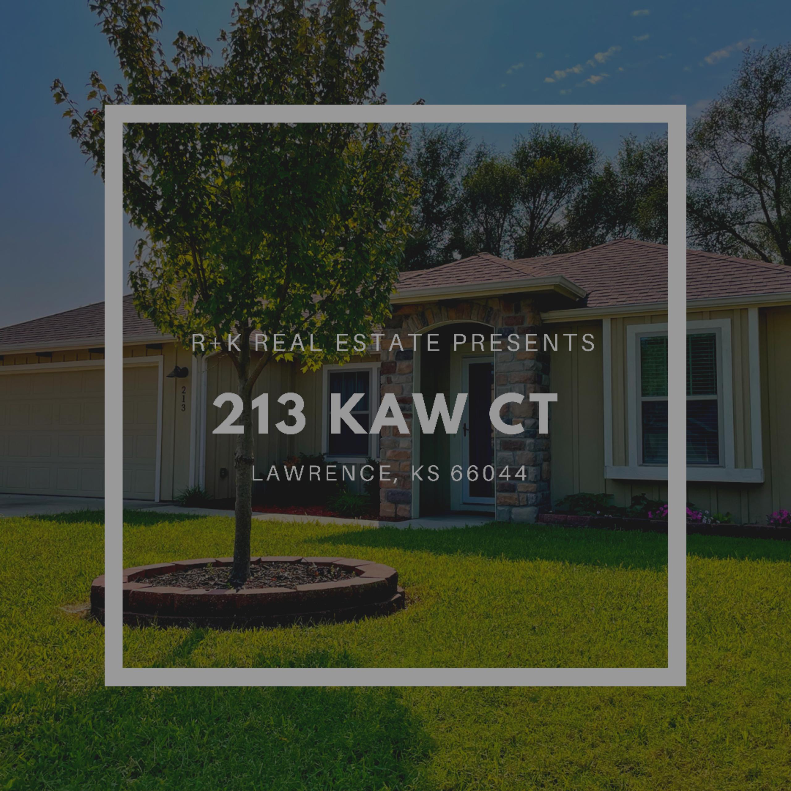 213 Kaw Ct. Lawrence, KS 66044