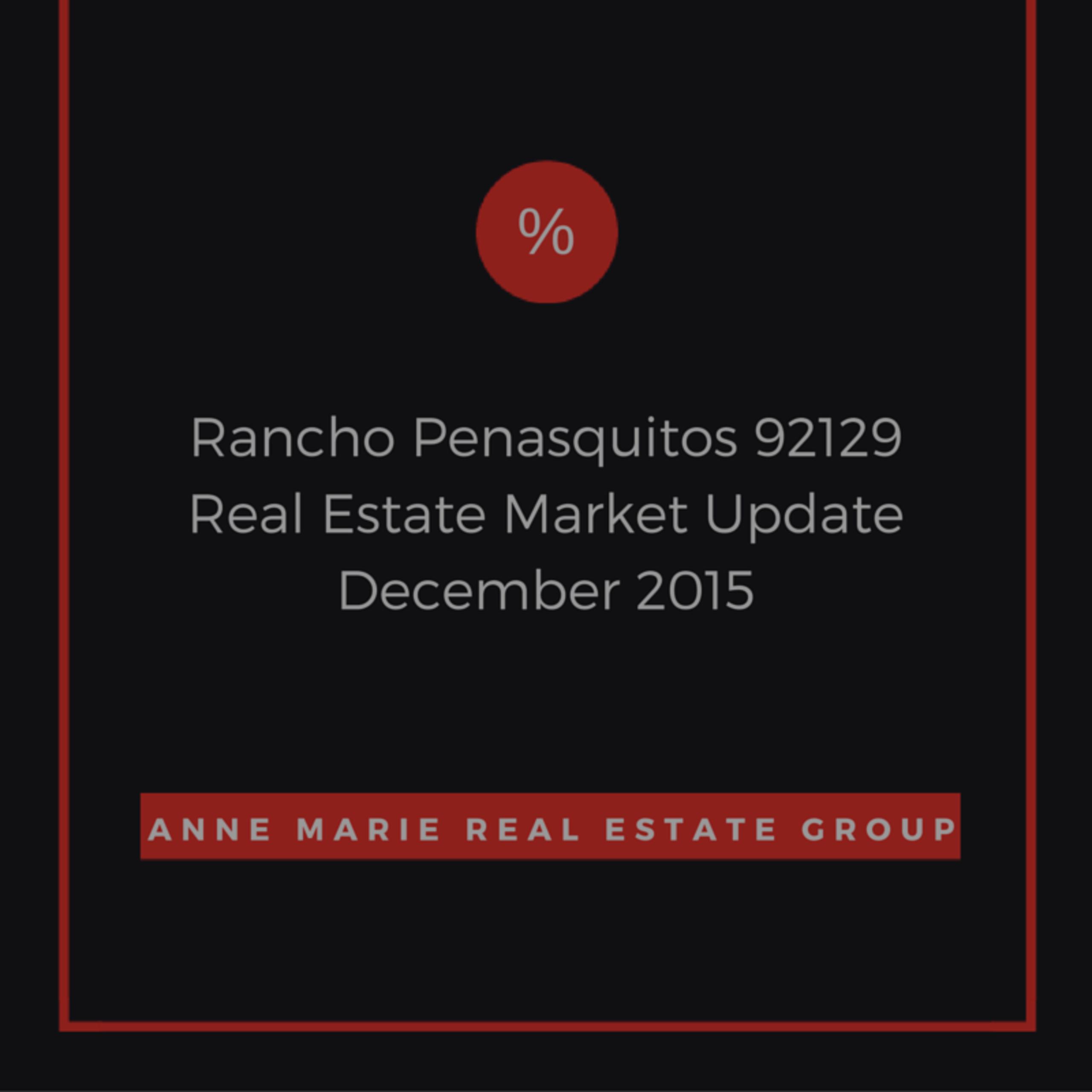 Rancho Penasquitos 92129 Dec 2015 Market Update