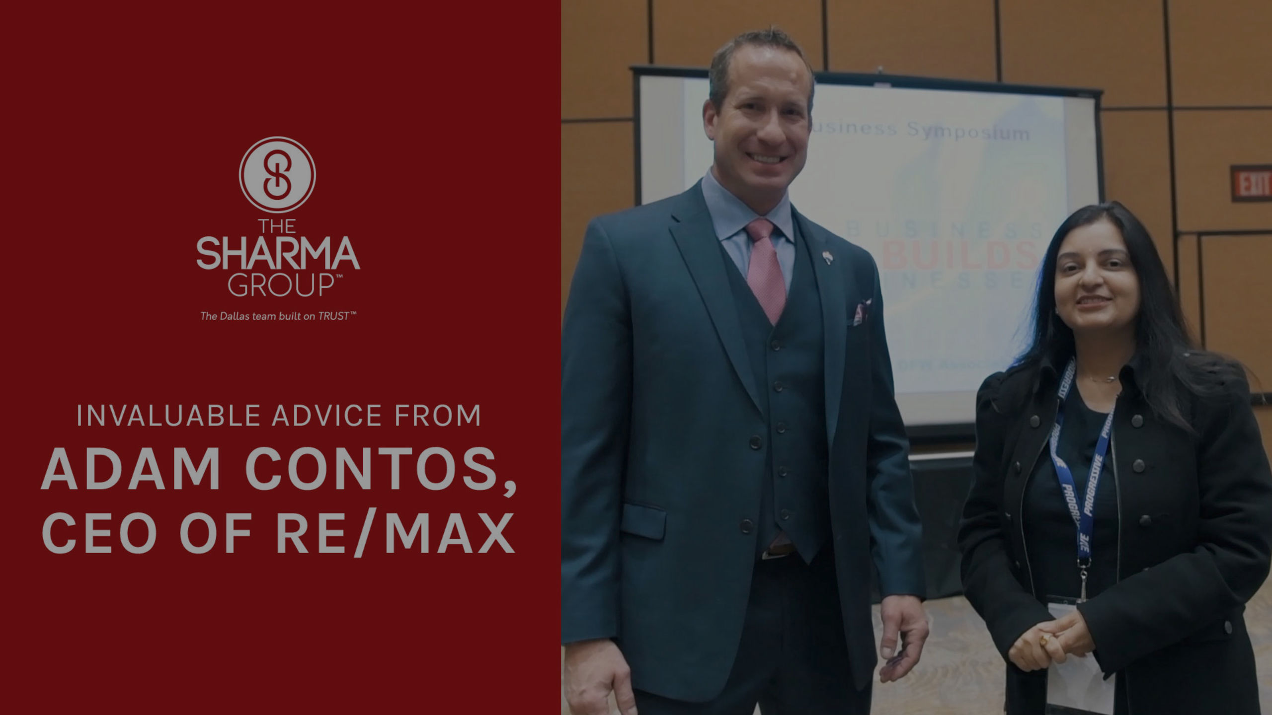 Advice from Adam Contos, CEO of RE/MAX